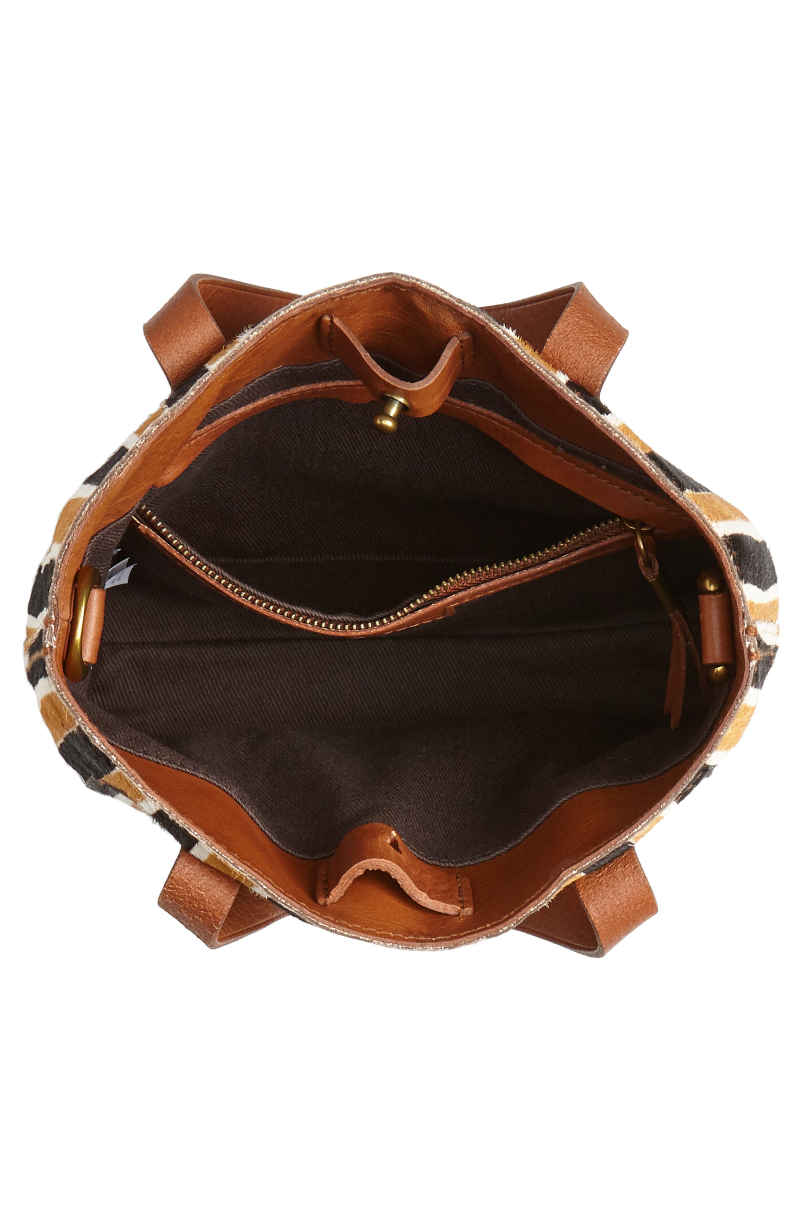 The Small Transport Genuine Calf Hair Crossbody Bag,                             Alternate thumbnail 4, color,                             ACORN MULTI