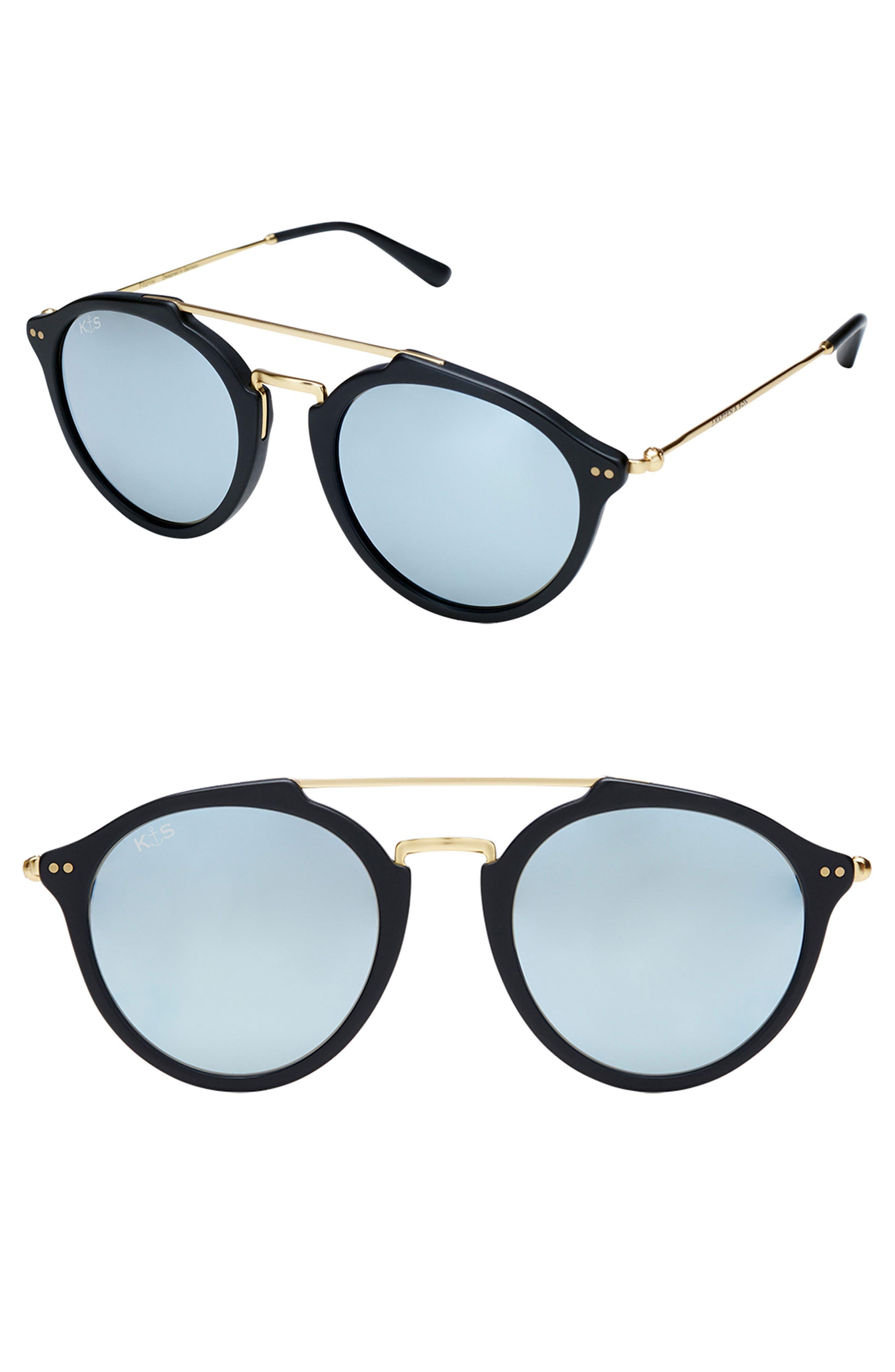 Fitzroy 48mm Sunglasses,                             Main thumbnail 1, color,                             BLACK/ BLUE