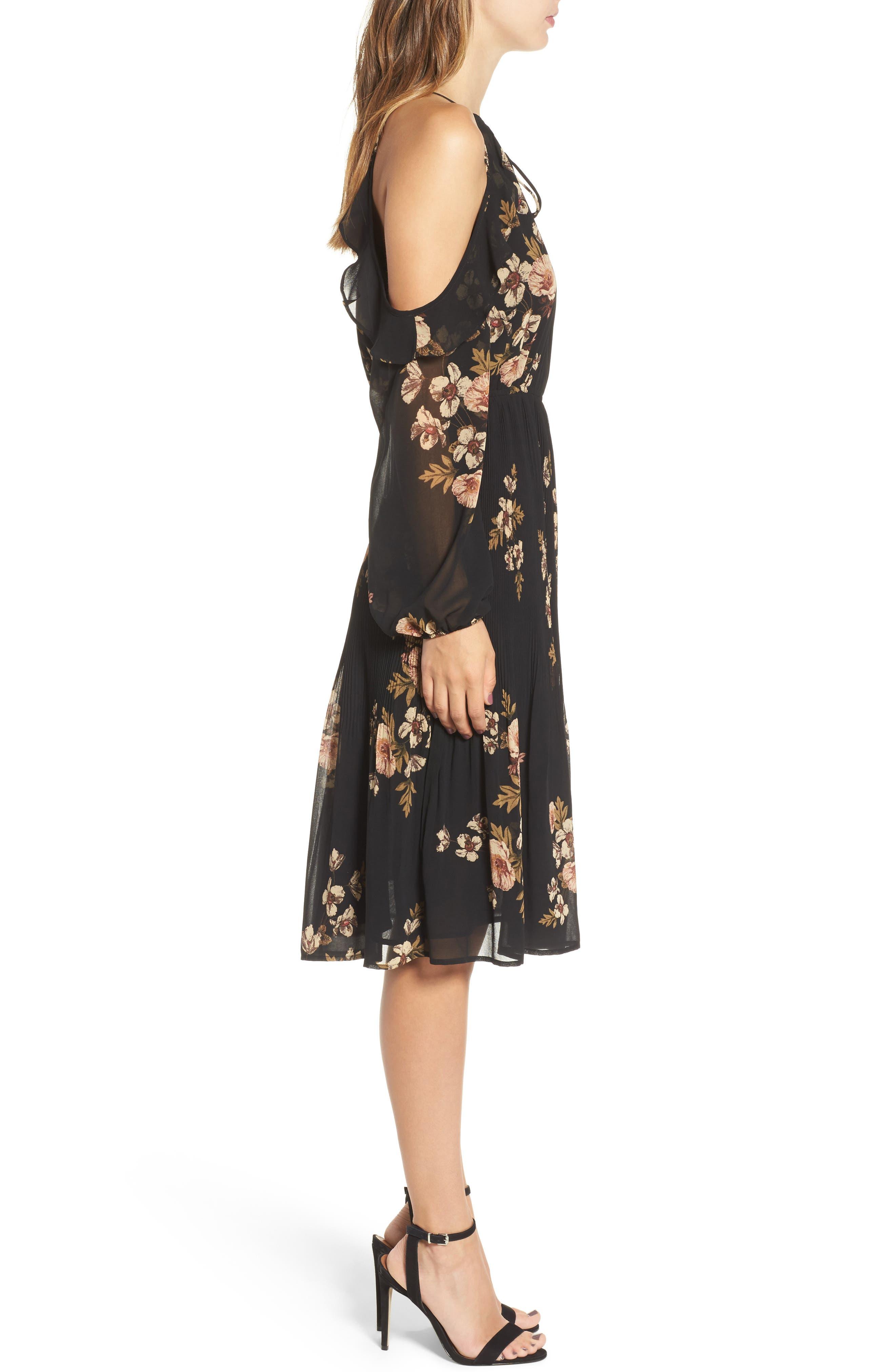 Persephone Cold Shoulder Dress,                             Alternate thumbnail 3, color,