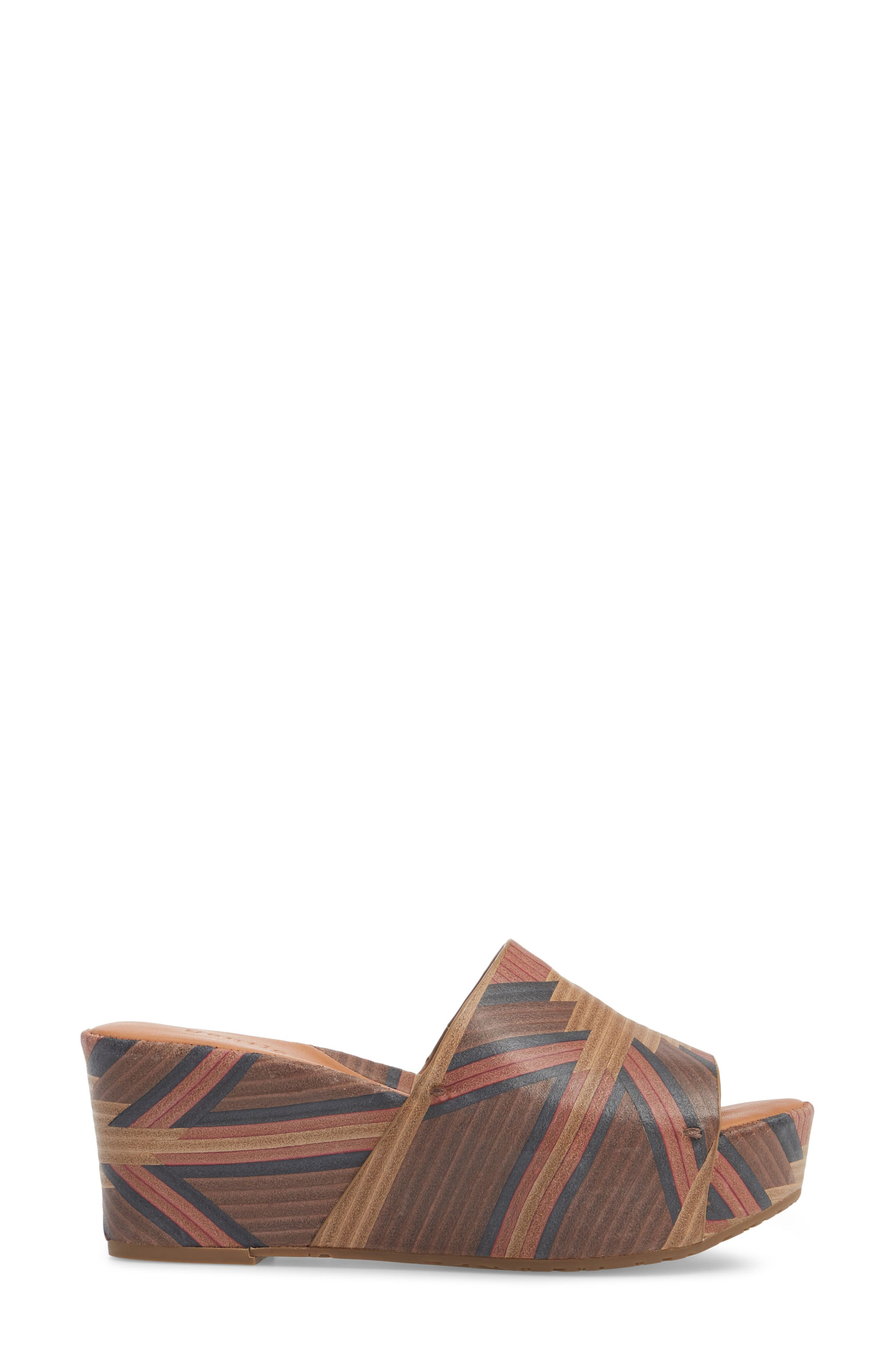 by Kenneth Cole Forella Slide Sandal,                             Alternate thumbnail 3, color,                             BROWN MULTI LEATHER