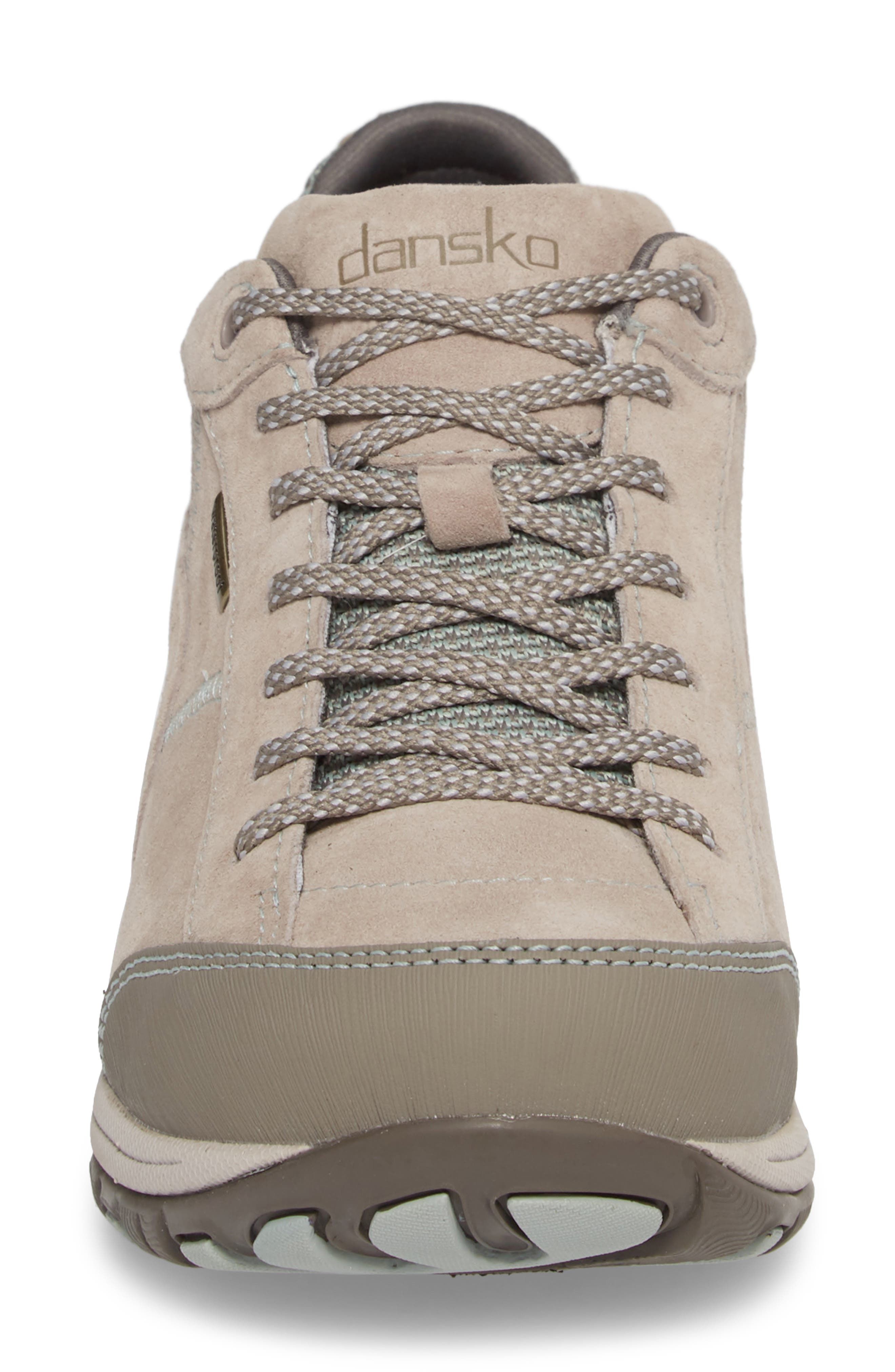 Paisley Waterproof Sneaker,                             Alternate thumbnail 4, color,                             STONE SUEDE