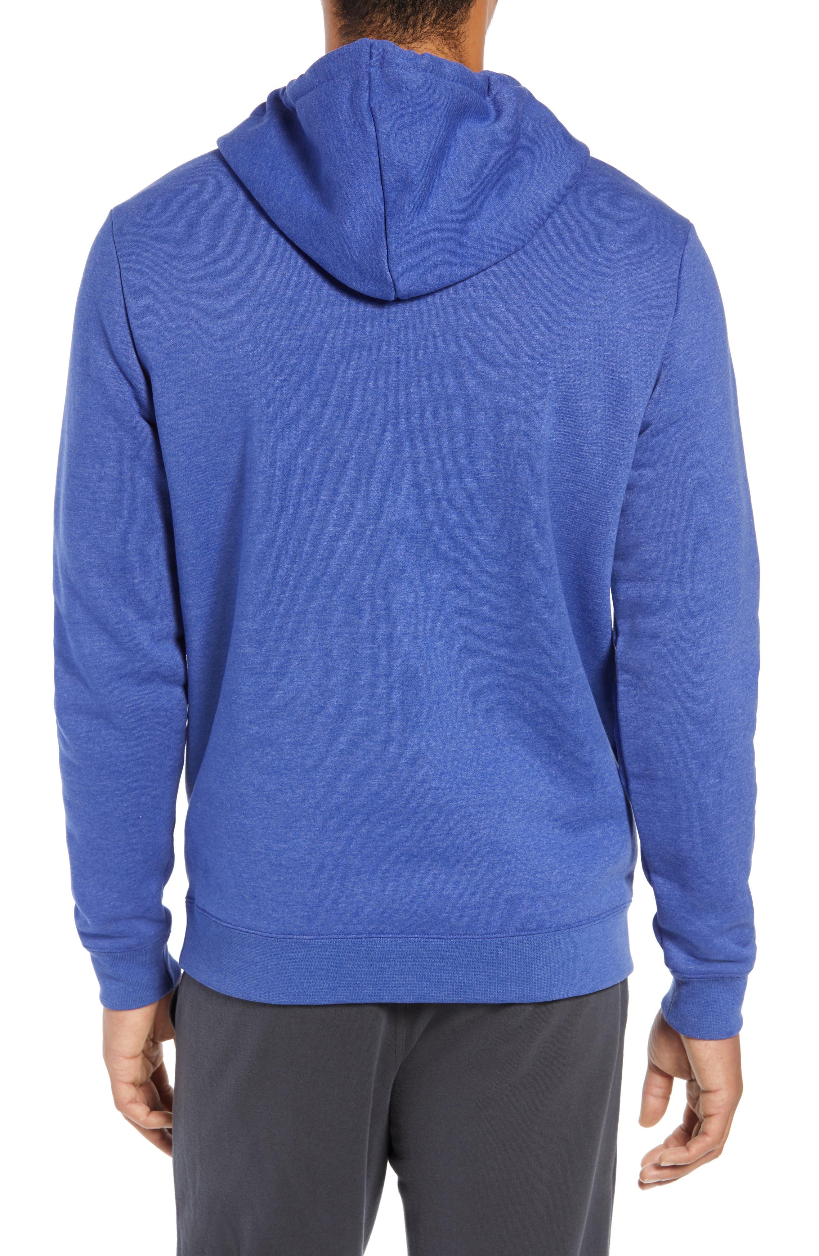 Surf Check Hoodie Sweatshirt,                             Alternate thumbnail 2, color,                             DEEP ROYAL HEATHER/ WHITE