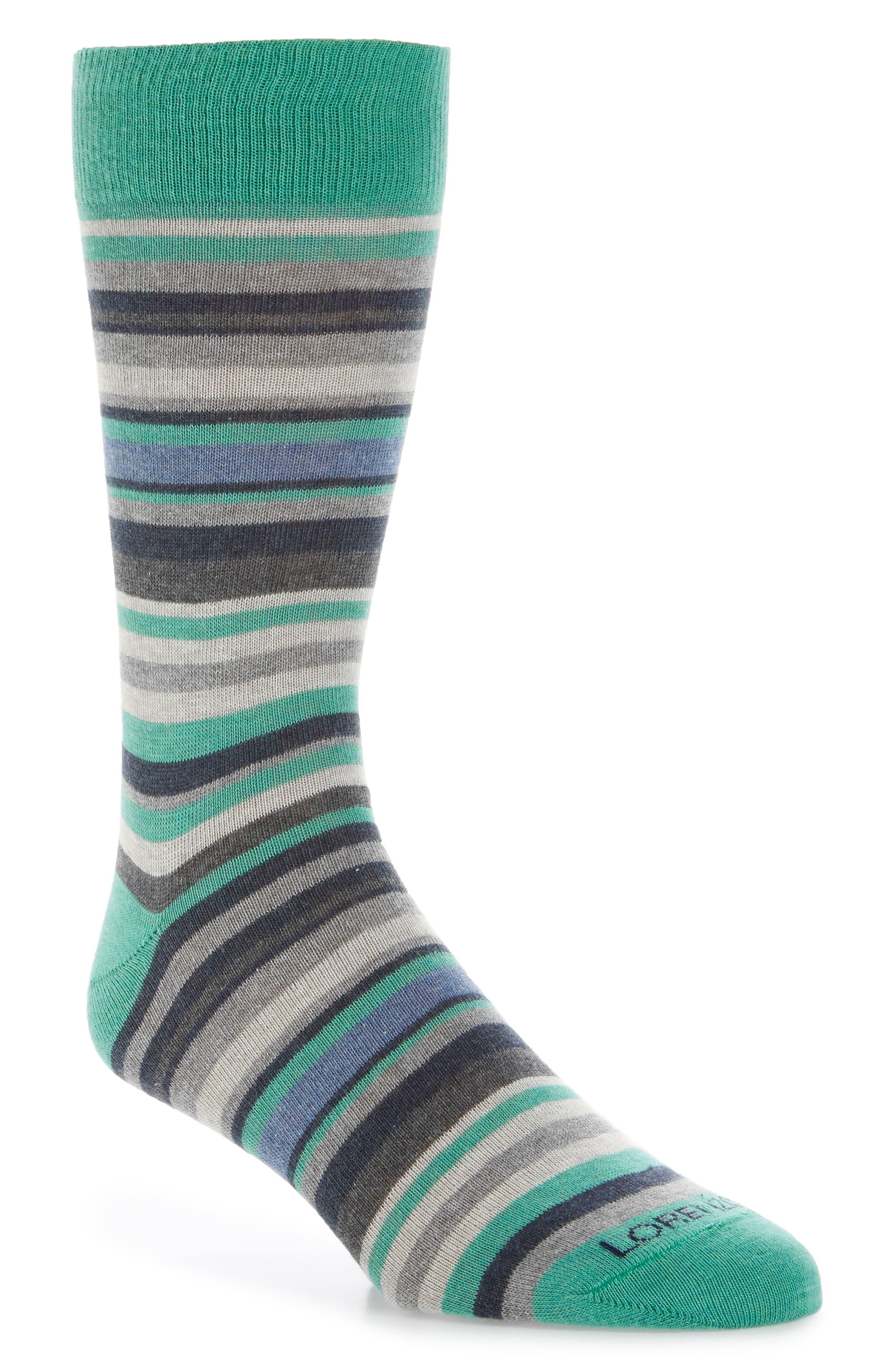 Stripe Cotton Blend Socks,                             Main thumbnail 1, color,                             021