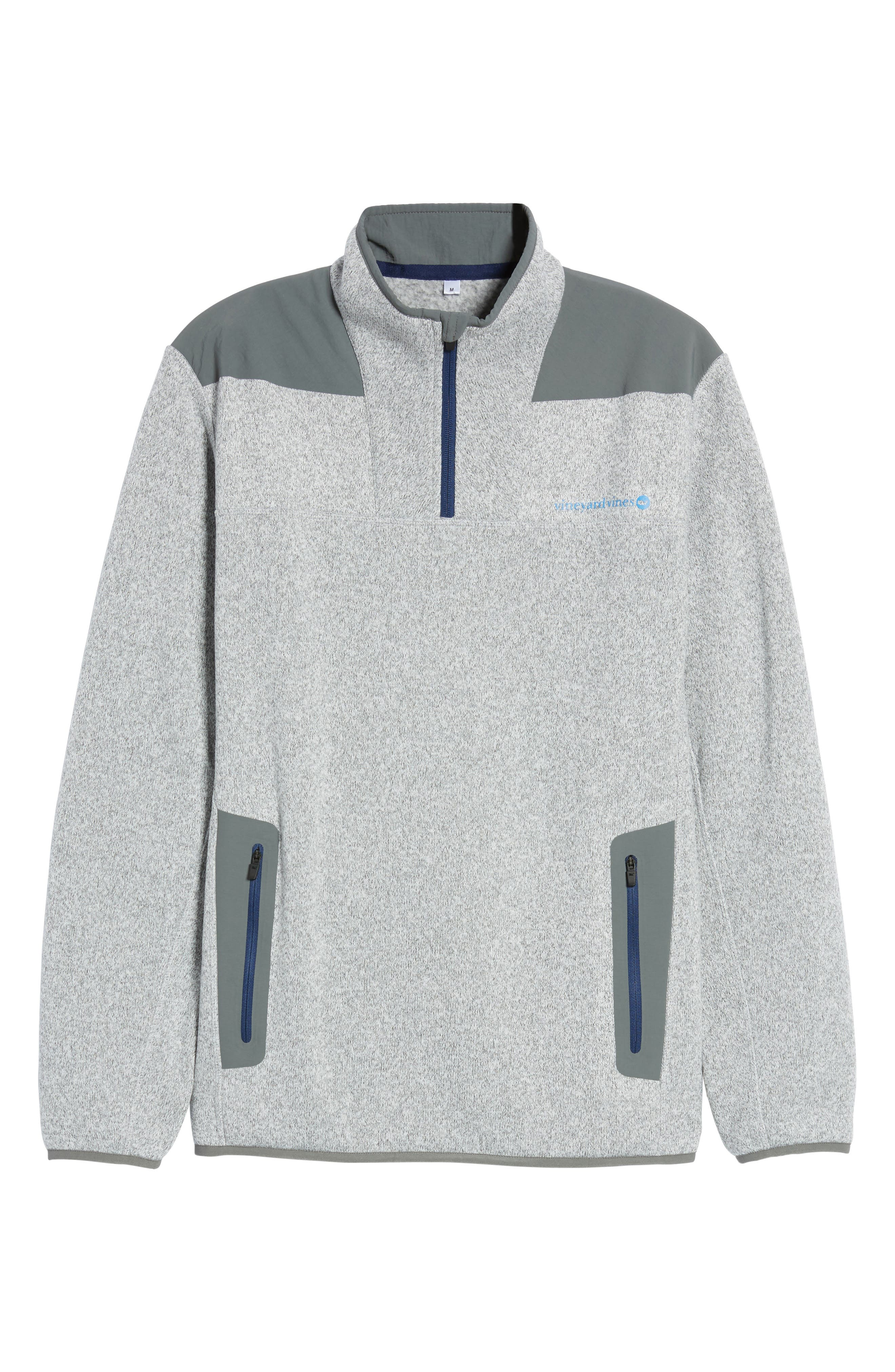 Shep Quarter Zip Fleece Sweater,                             Alternate thumbnail 6, color,                             039