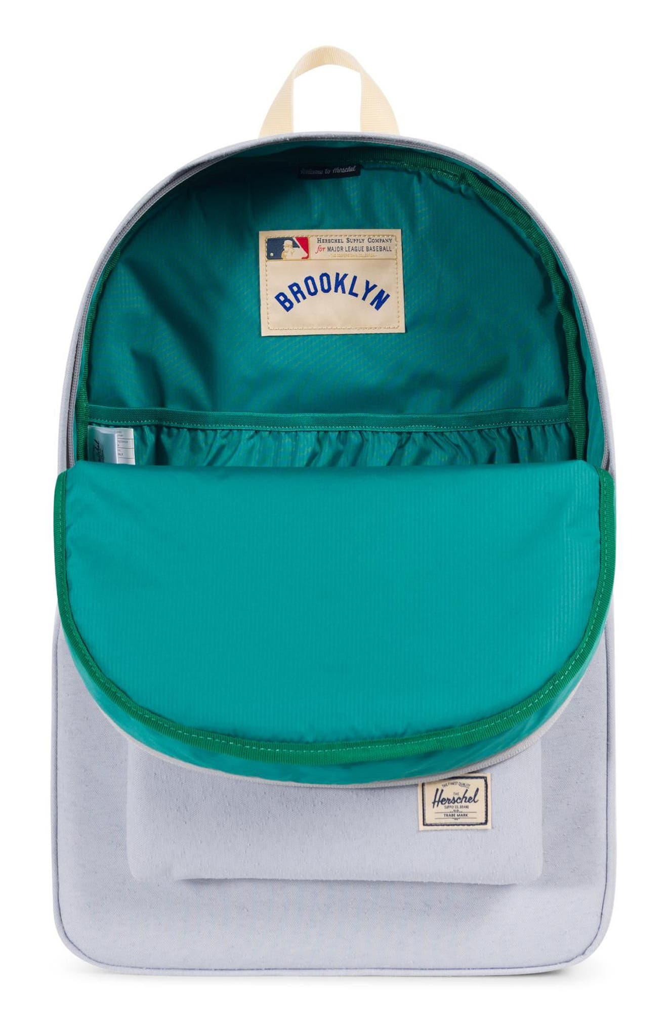 Heritage - MLB Cooperstown Collection Backpack,                             Alternate thumbnail 3, color,                             BROOKLYN DODGERS