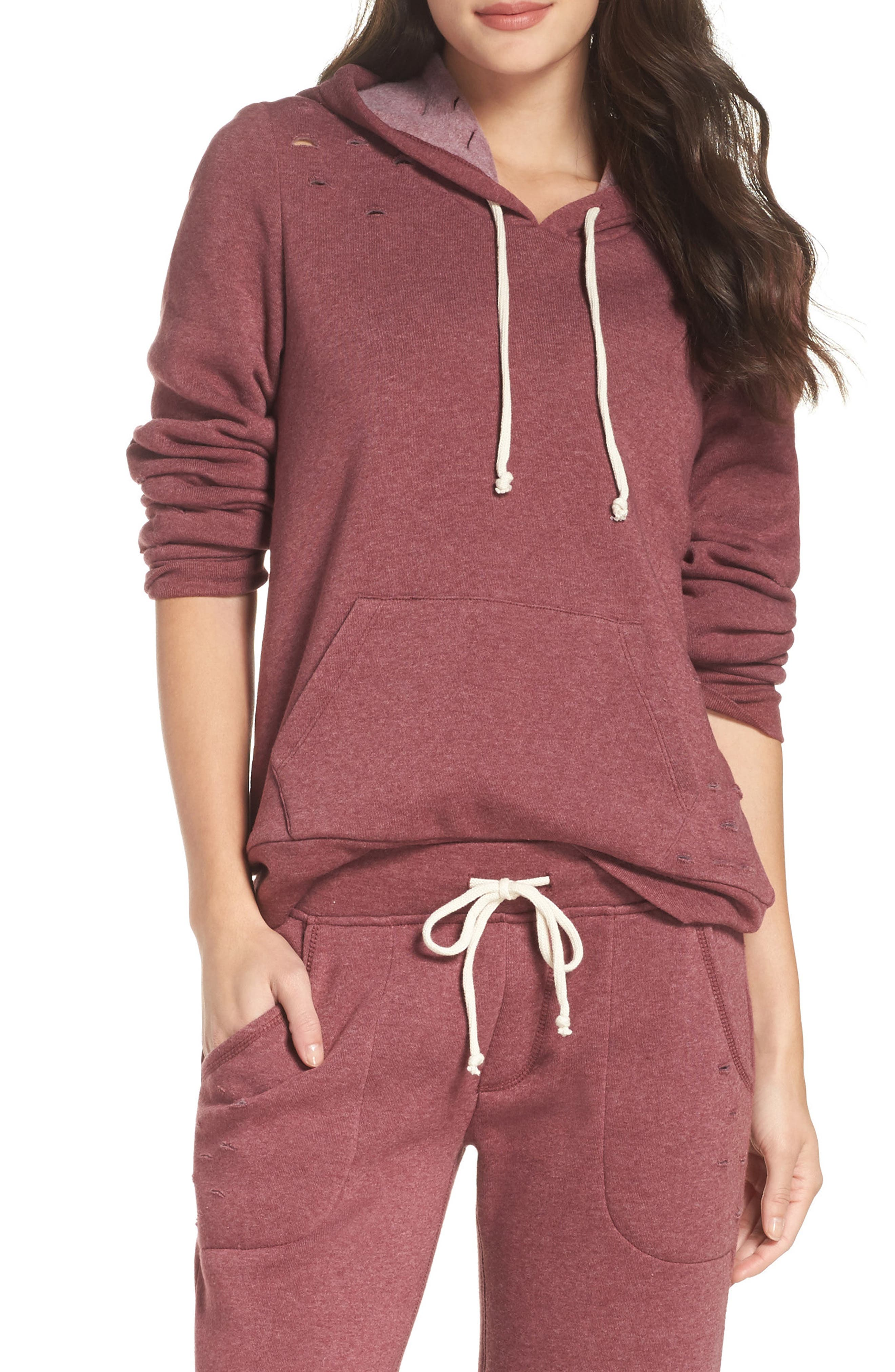 Athletics Distressed Hoodie,                             Main thumbnail 2, color,