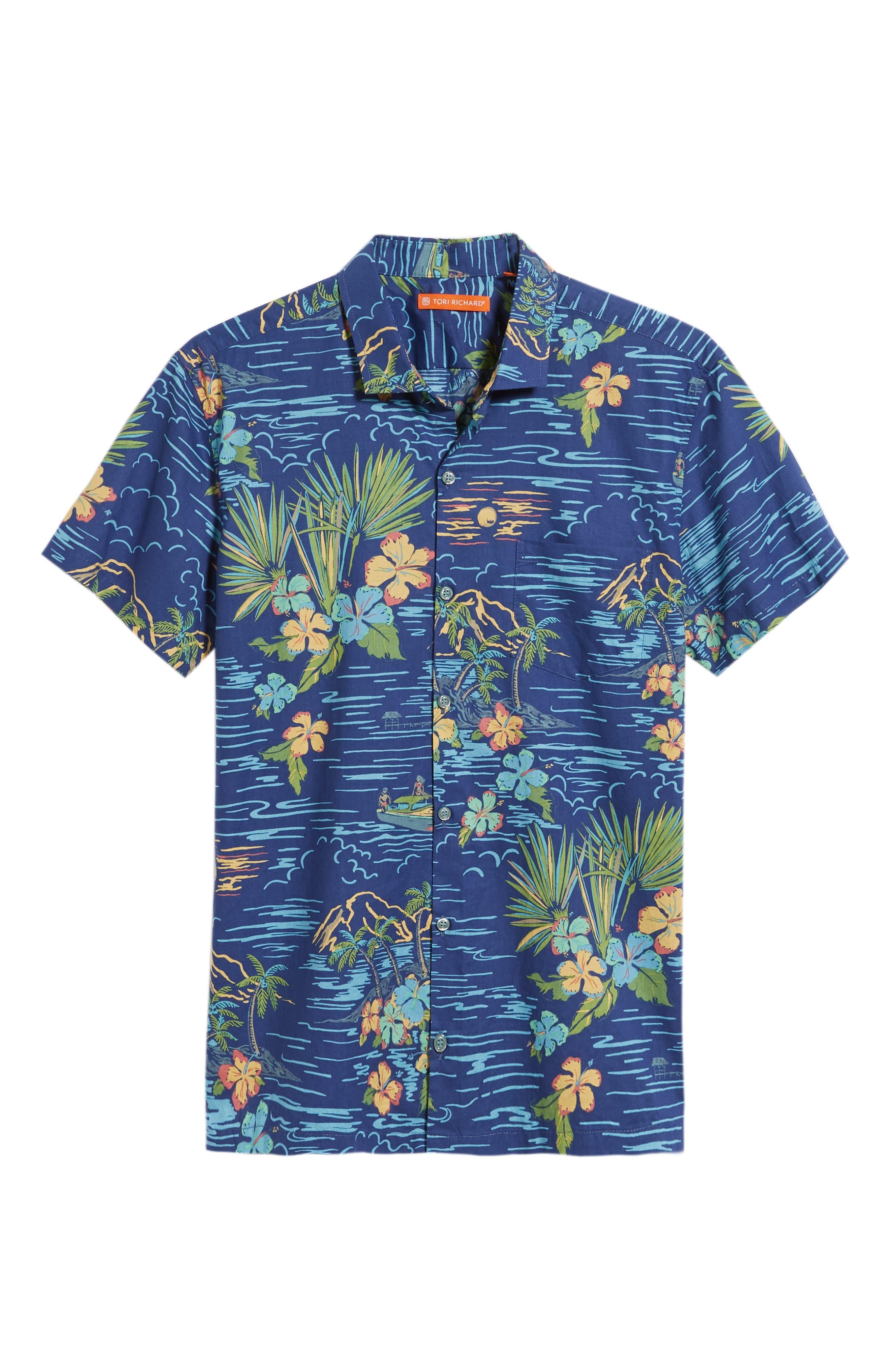Bali Trim Fit Sport Shirt,                             Alternate thumbnail 6, color,                             415