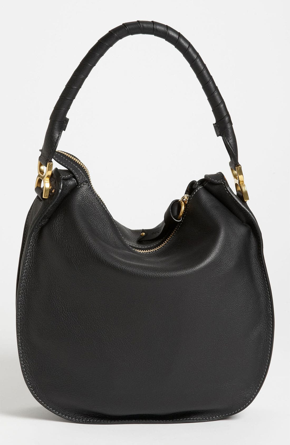 'Marcie - Medium' Leather Hobo,                             Alternate thumbnail 2, color,                             001