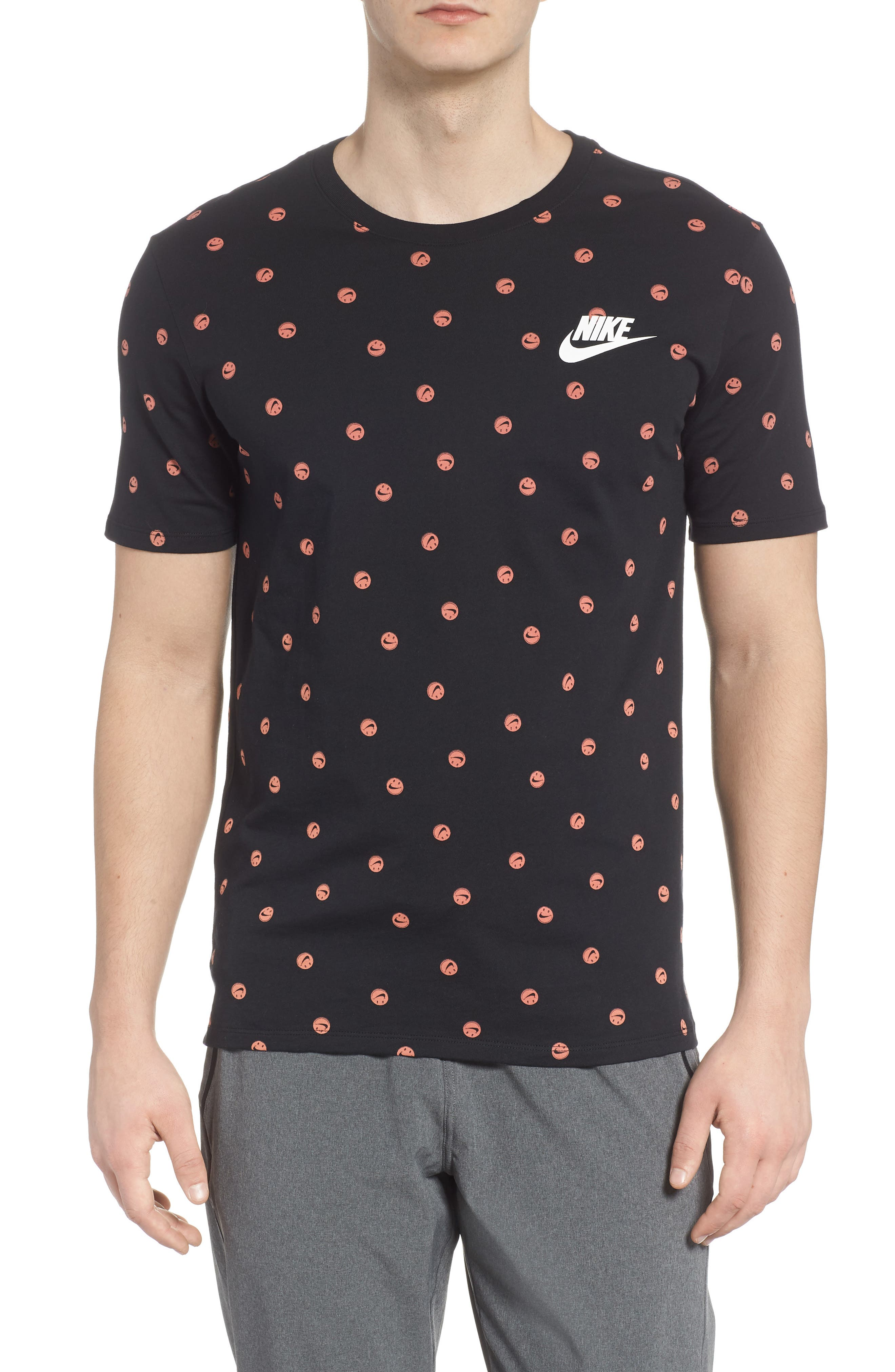 Sportswear Smiley Print T-Shirt,                             Main thumbnail 1, color,