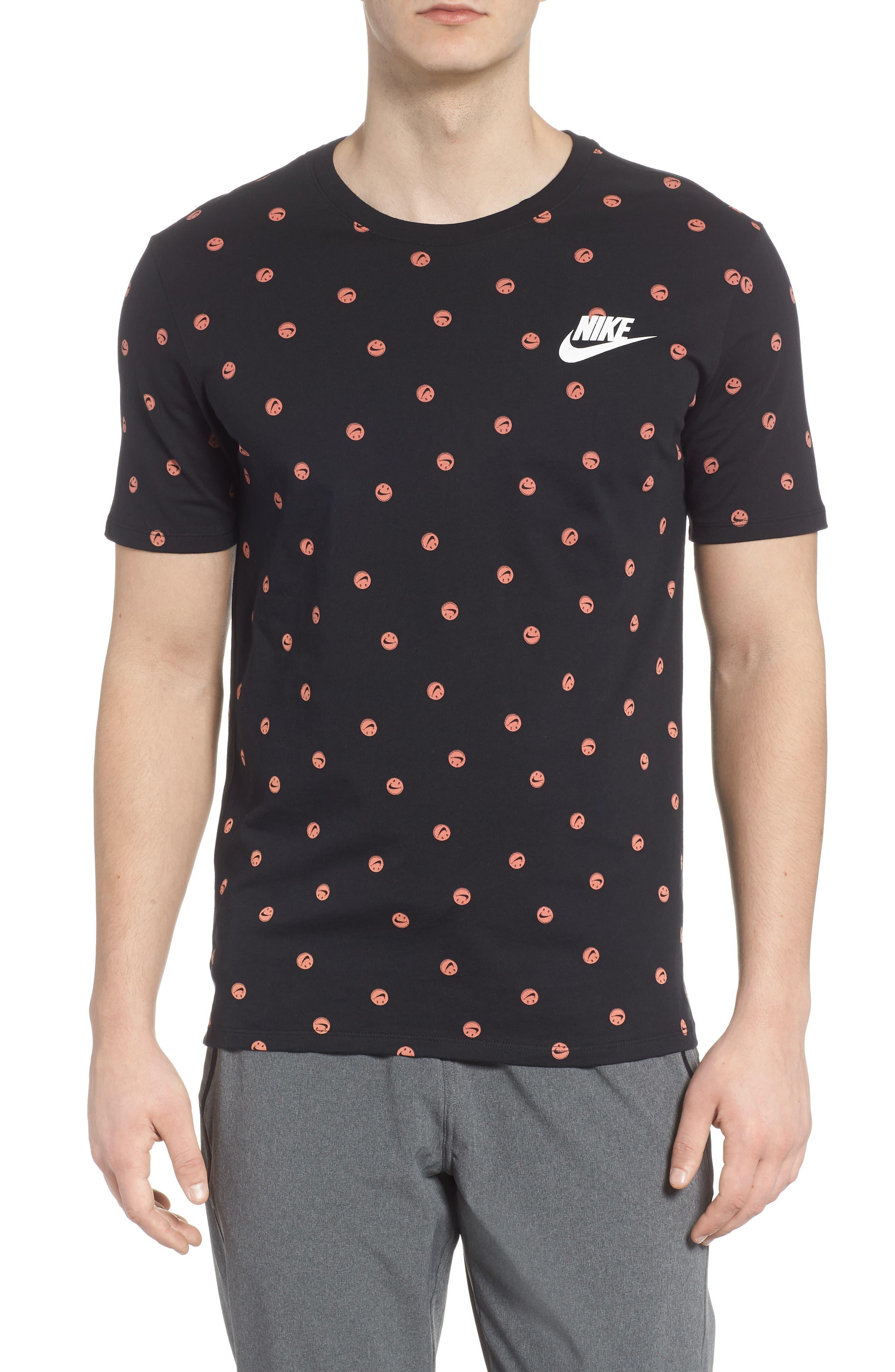 Sportswear Smiley Print T-Shirt,                         Main,                         color,