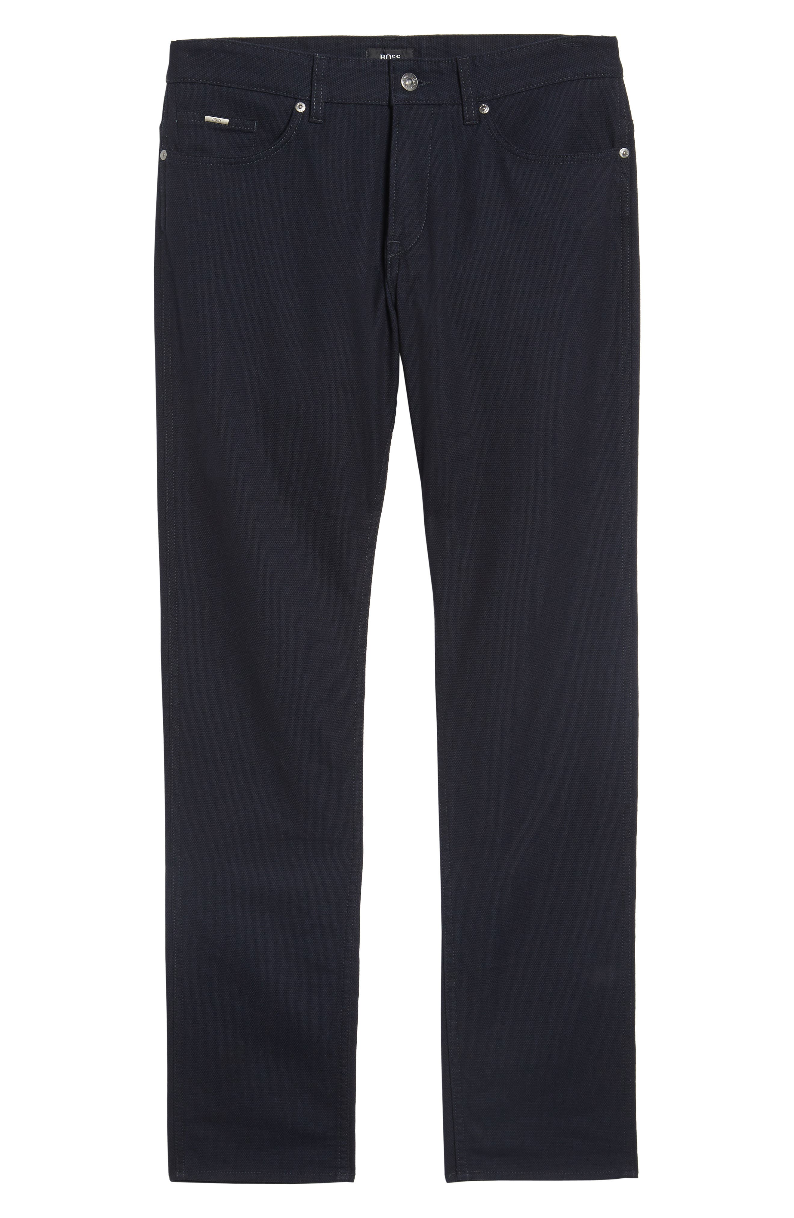 Delaware Slim Microtexture Five Pocket Pants,                             Alternate thumbnail 6, color,                             410