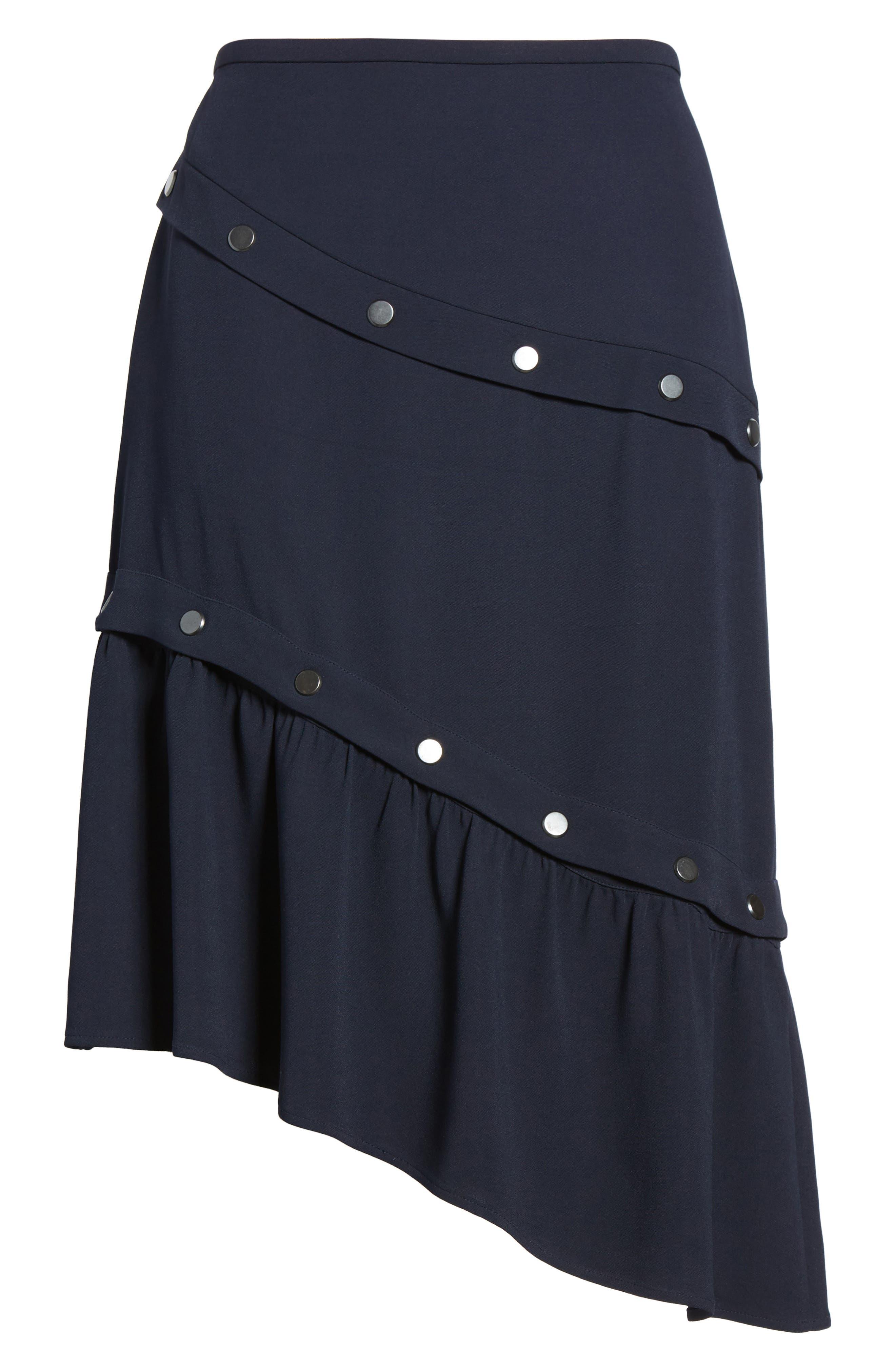 Snap Detail Skirt,                             Alternate thumbnail 6, color,                             410