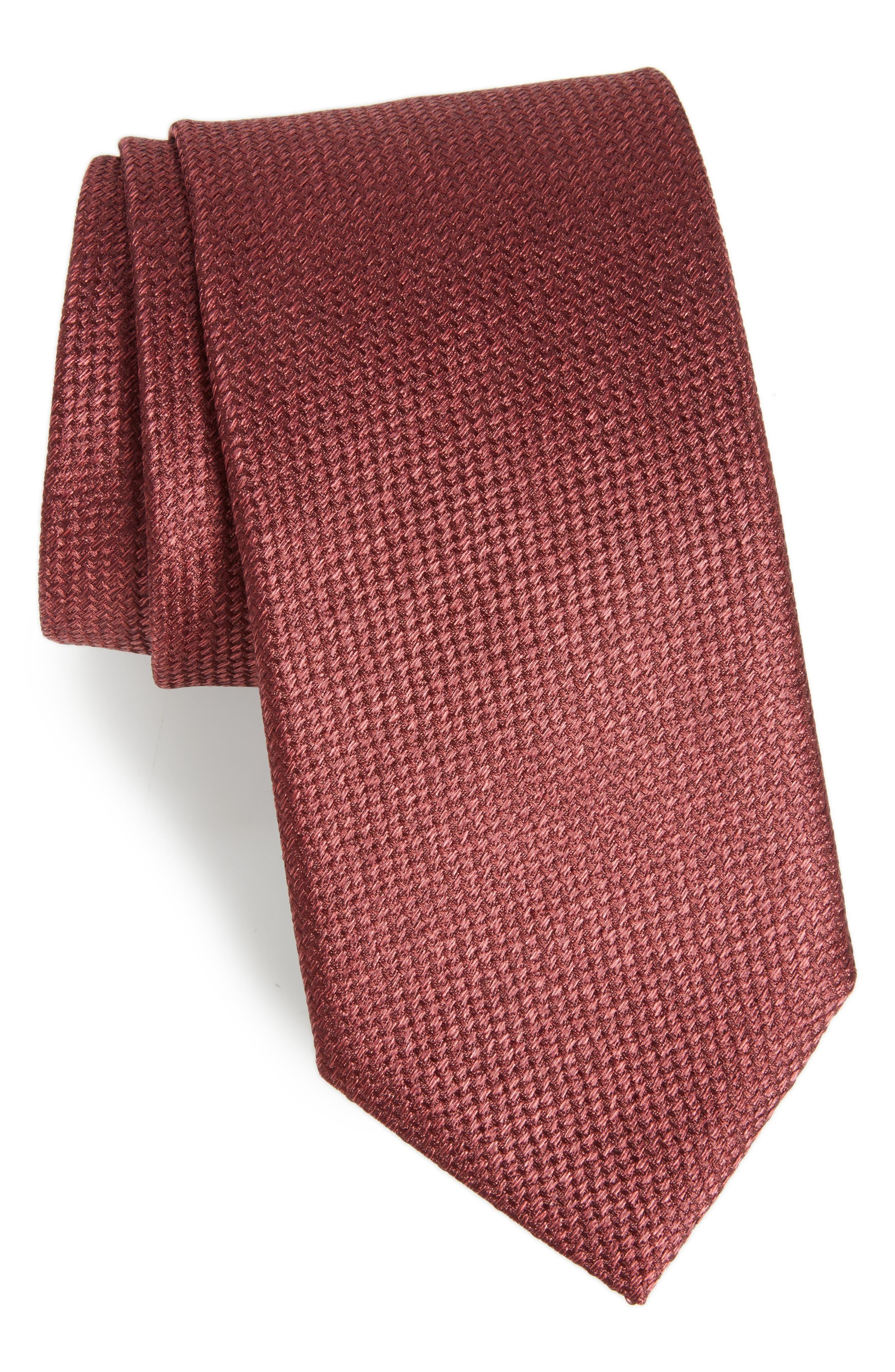 Solid Silk Tie,                         Main,                         color, 601