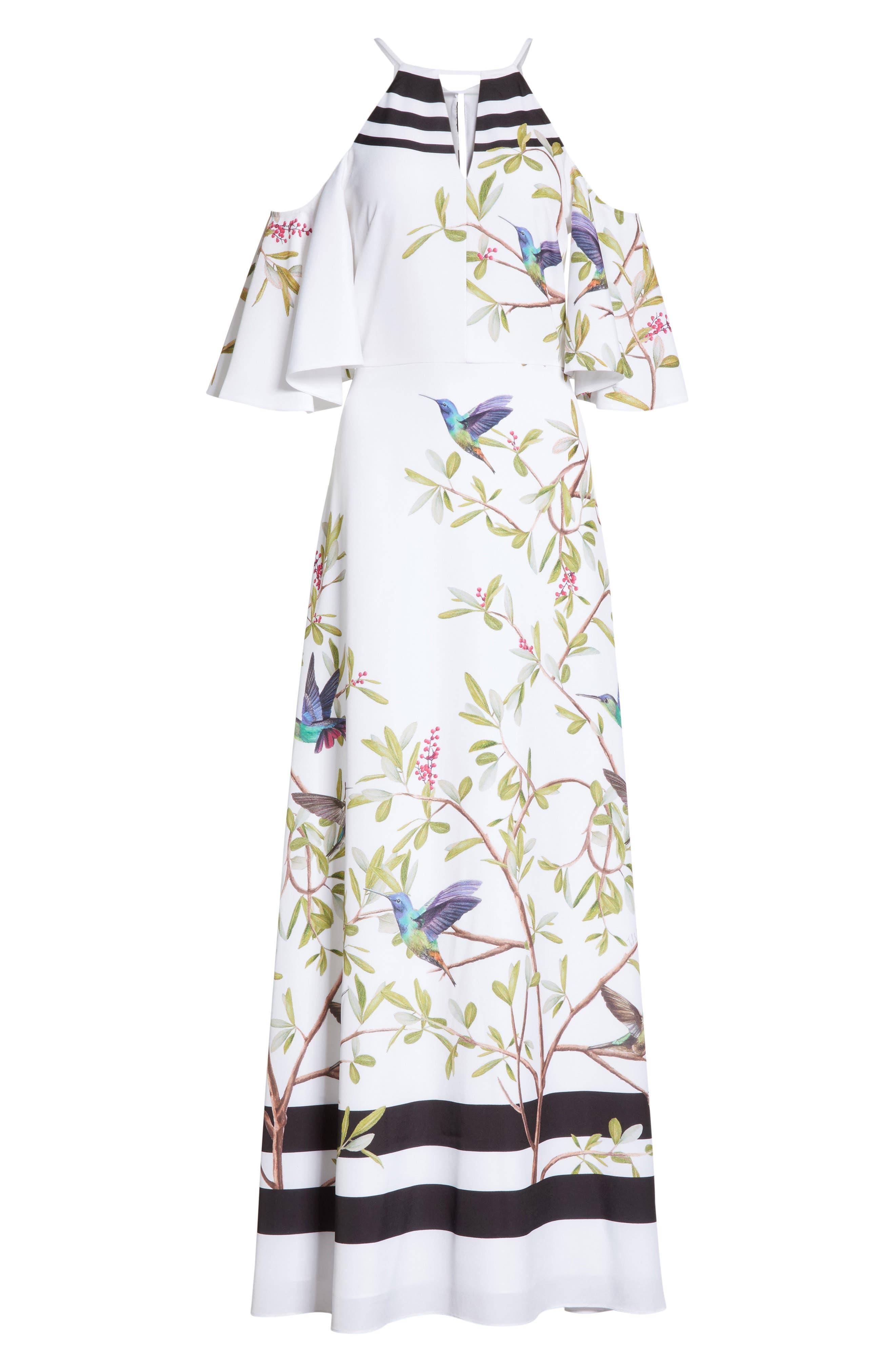 Highgrove Cold Shoulder Maxi Dress,                             Alternate thumbnail 6, color,                             110