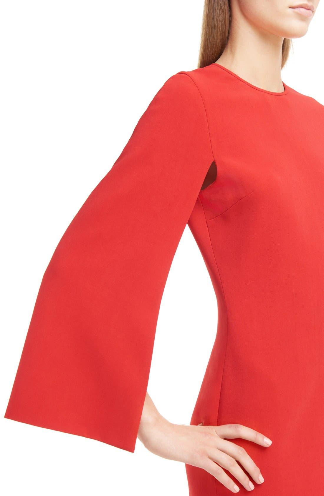 GIVENCHY,                             Cape Sleeve Dress,                             Alternate thumbnail 6, color,                             600