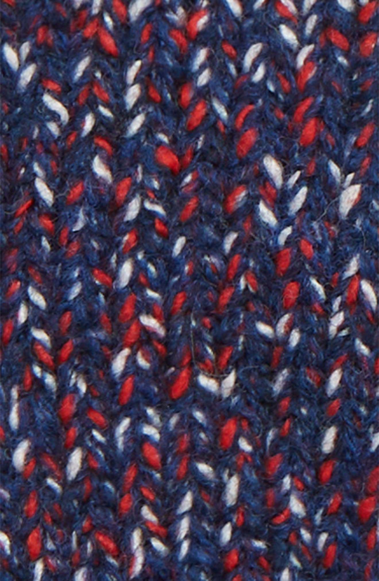 Cheryl Convertible Knit Mittens,                             Alternate thumbnail 2, color,                             NAVY/ RED