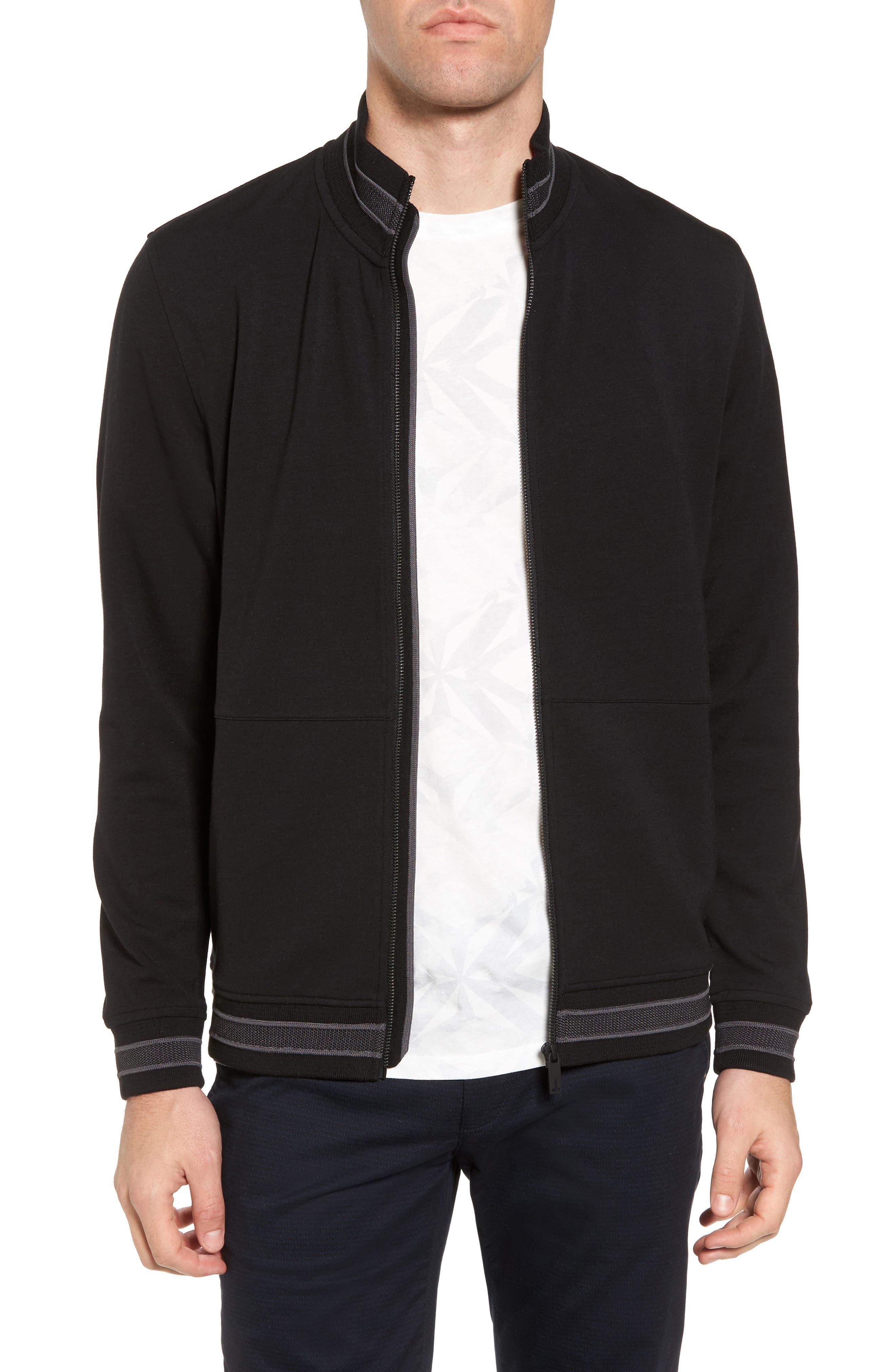 Collie Jersey Zip Jacket,                             Main thumbnail 1, color,                             001
