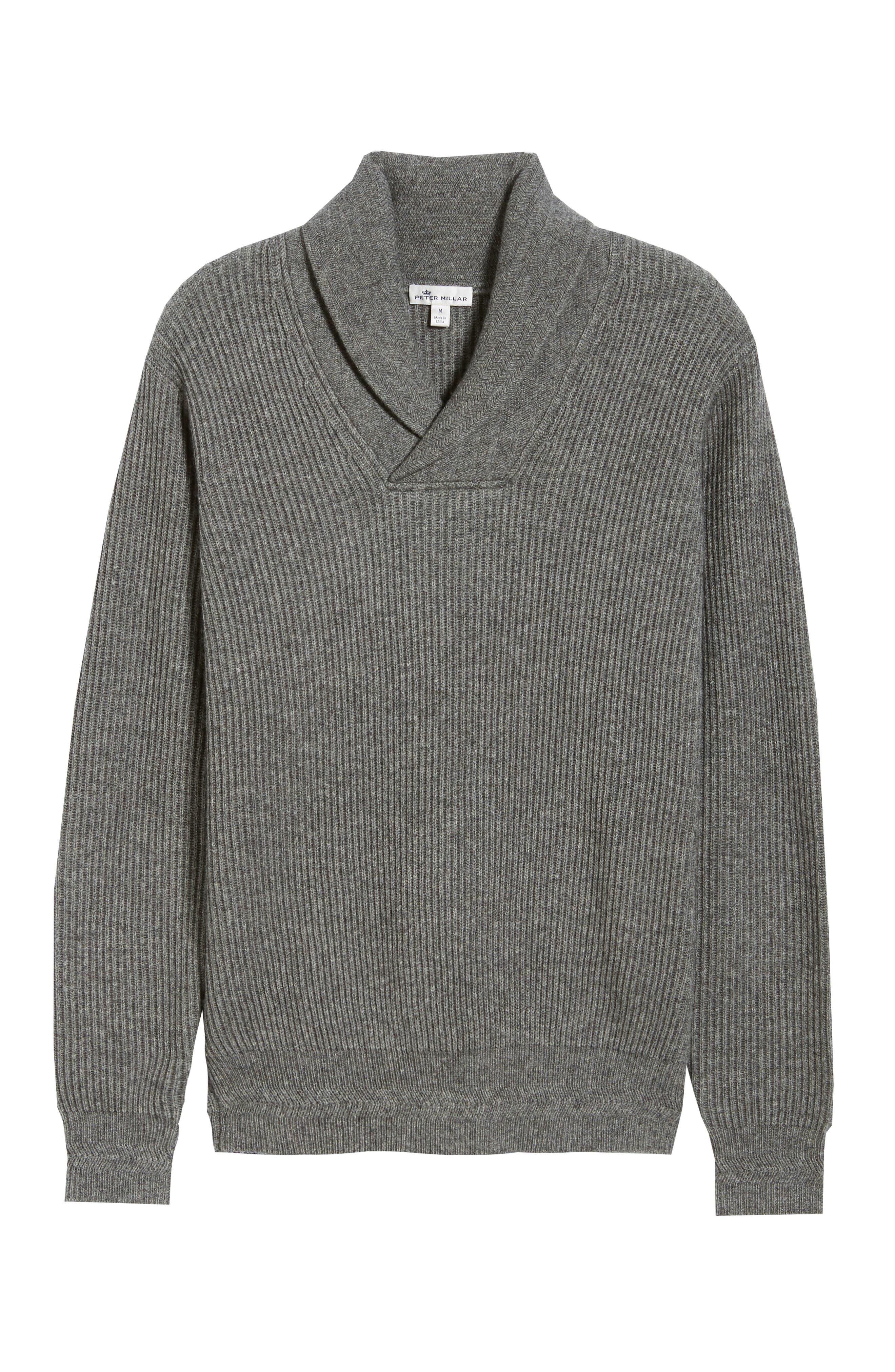 Mountainside Wool Blend Shawl Sweater,                             Alternate thumbnail 6, color,                             GREY