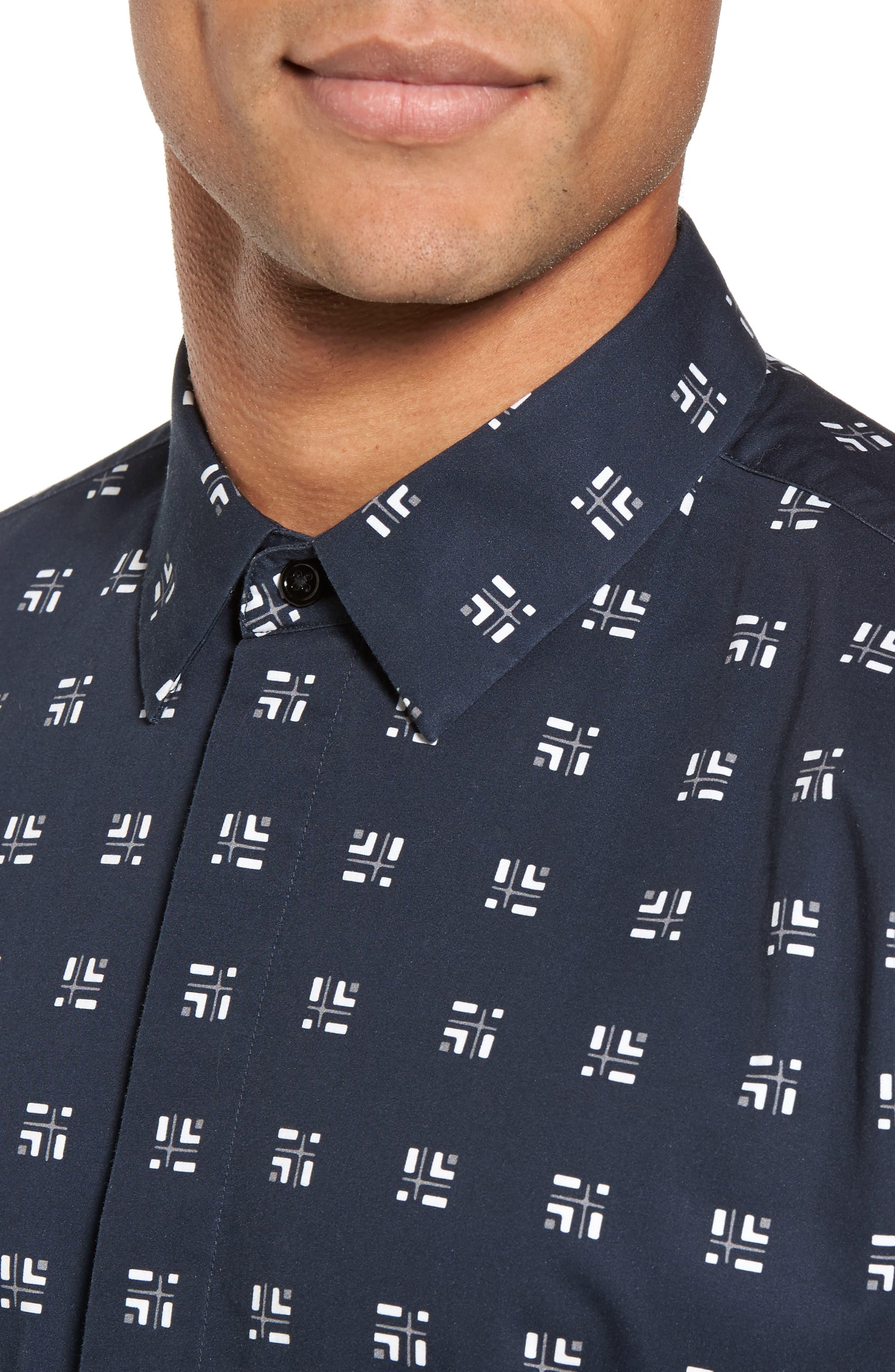 Levy Cross Box Regular Fit Sport Shirt,                             Alternate thumbnail 7, color,