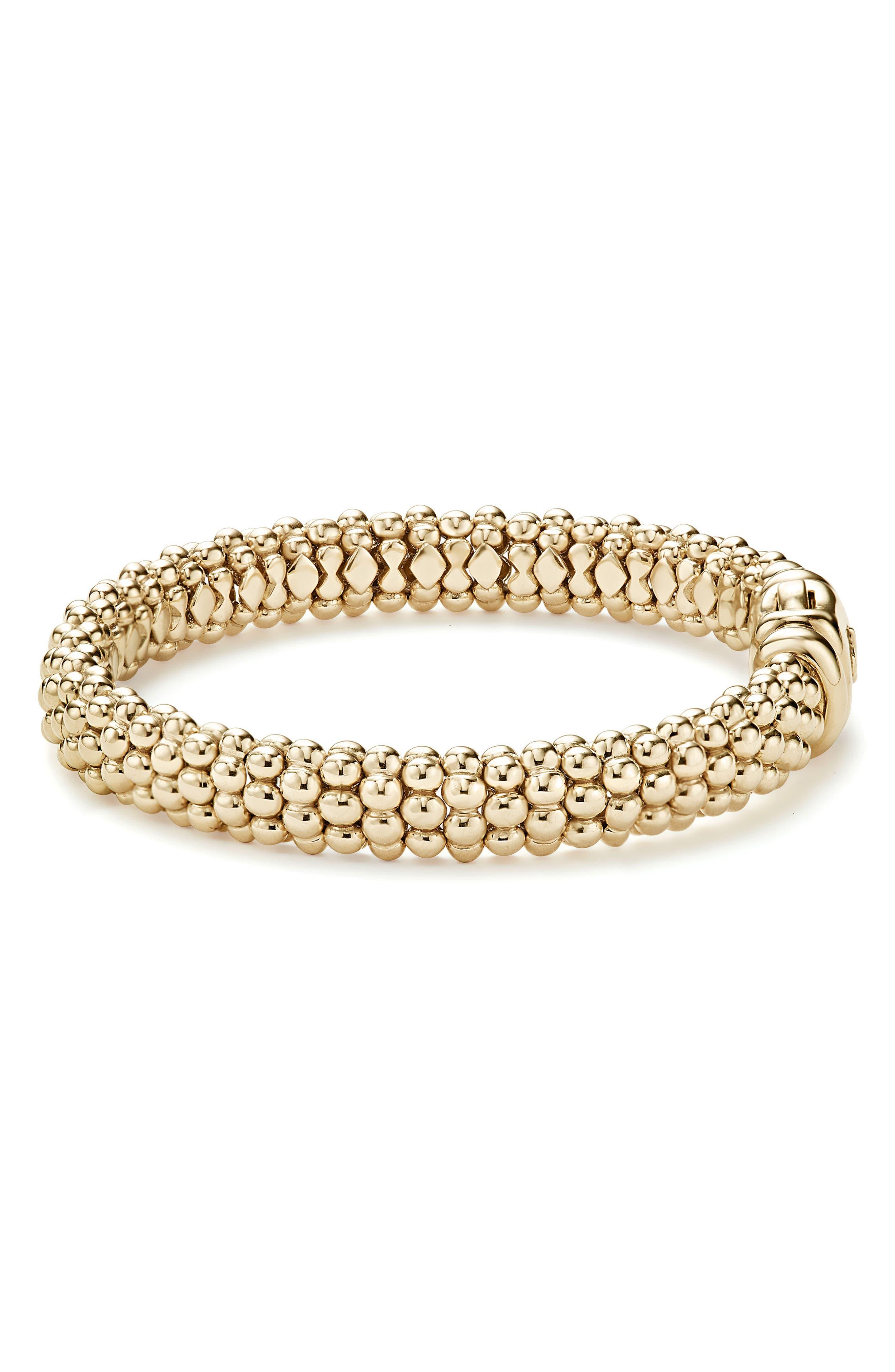 'Caviar Gold' Rope Bracelet,                             Alternate thumbnail 5, color,                             GOLD