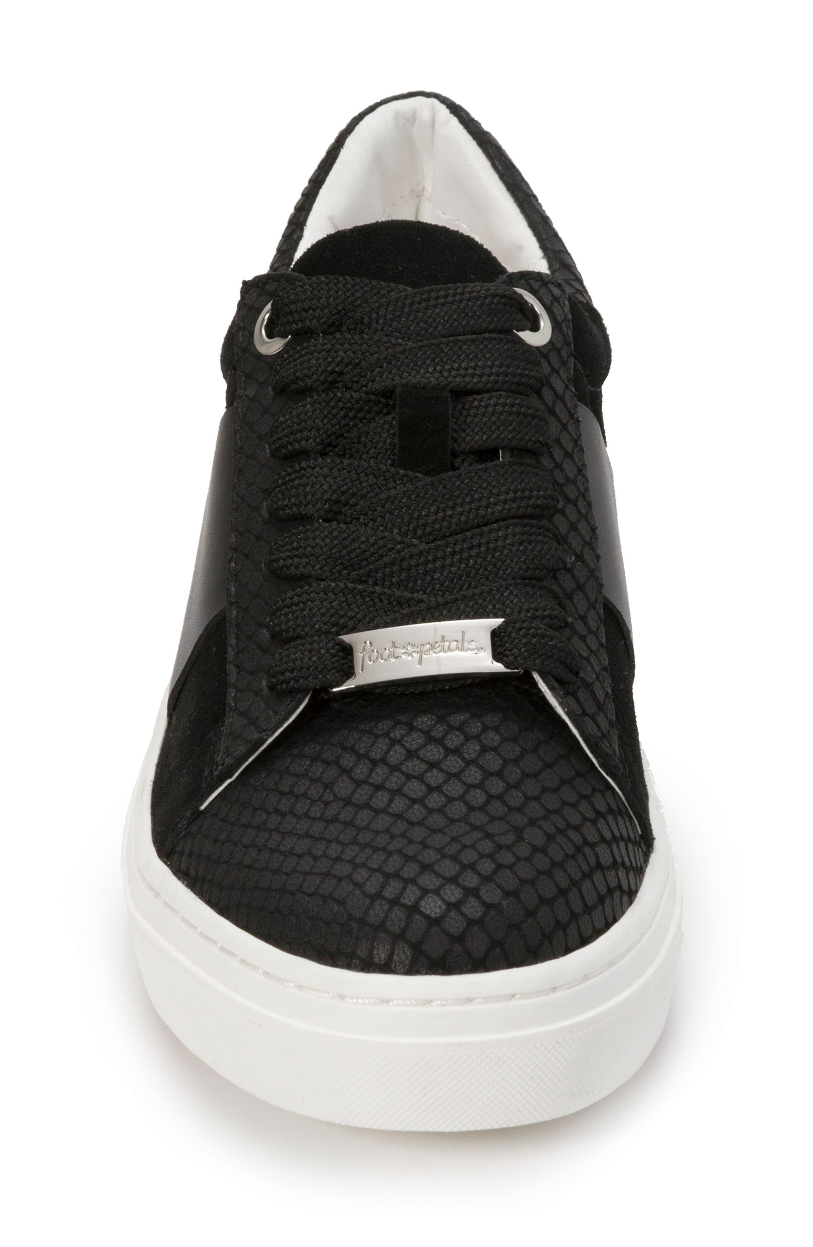 Fallon Sneaker,                             Alternate thumbnail 4, color,                             BLACK SUEDE