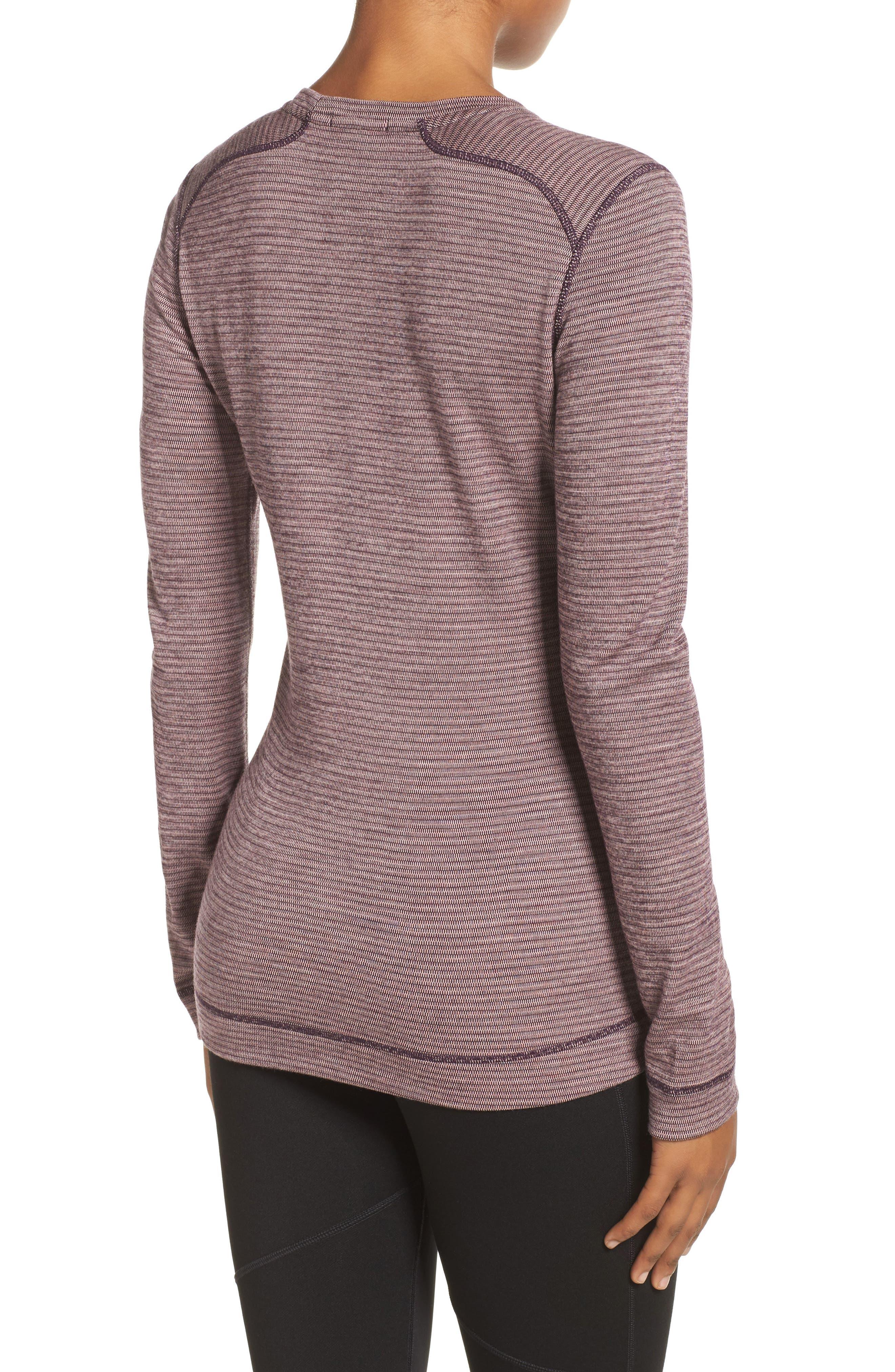 Merino Wool 250 Base Layer Top,                             Alternate thumbnail 2, color,                             BORDEAUX