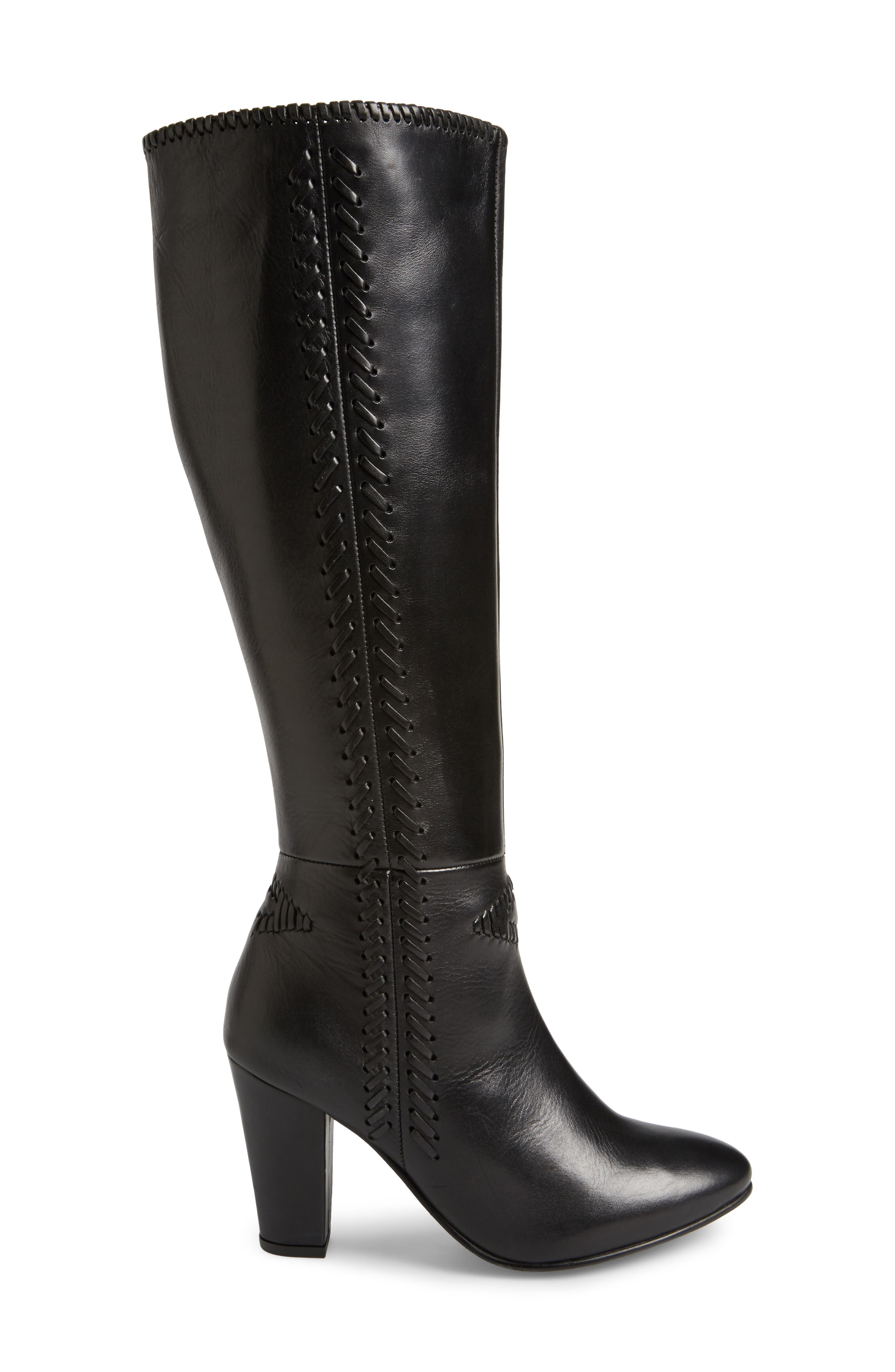 Reserved Knee High Boot,                             Alternate thumbnail 3, color,                             001