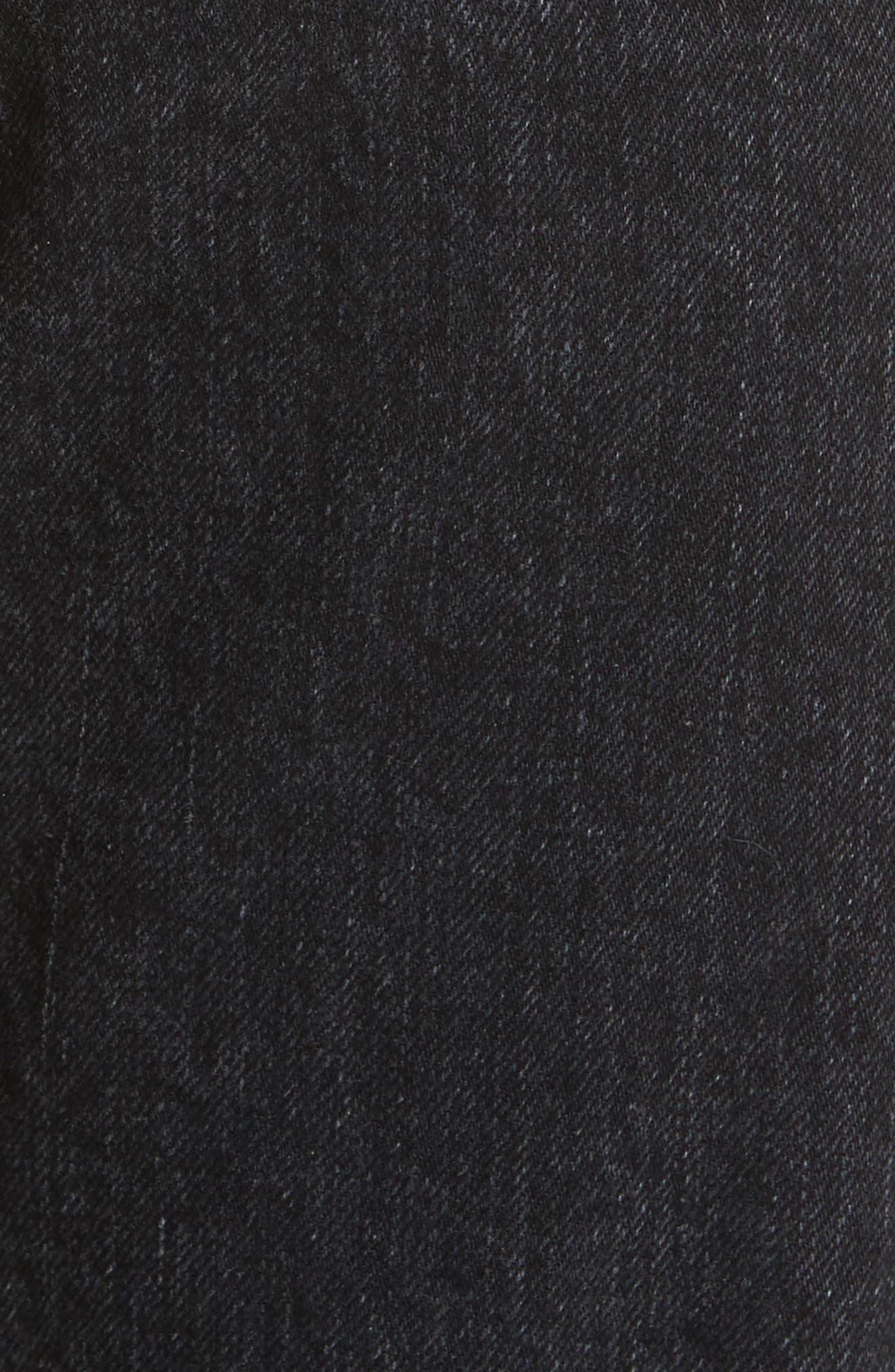 High Waist Straight Leg Jeans,                             Alternate thumbnail 5, color,                             001
