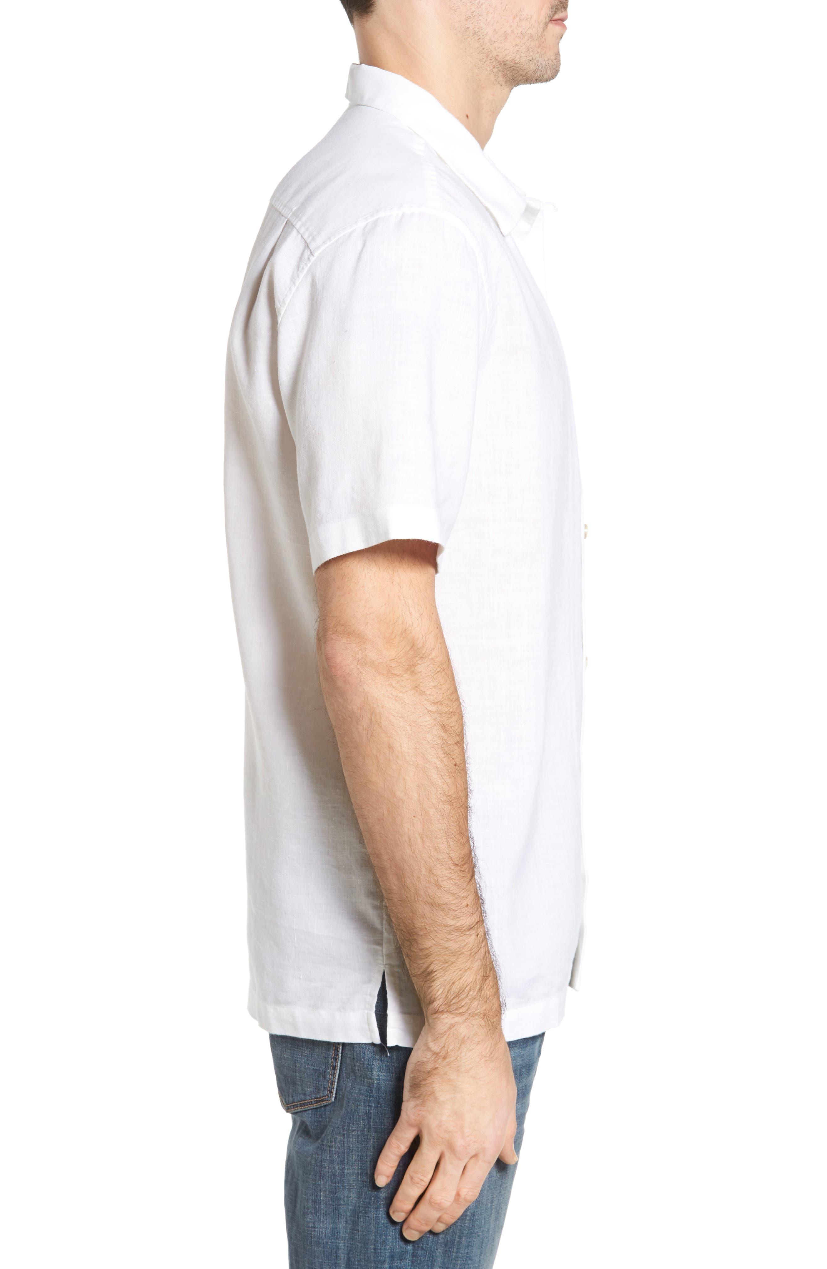 Monaco Tides Standard Fit Linen Blend Camp Shirt,                             Alternate thumbnail 14, color,