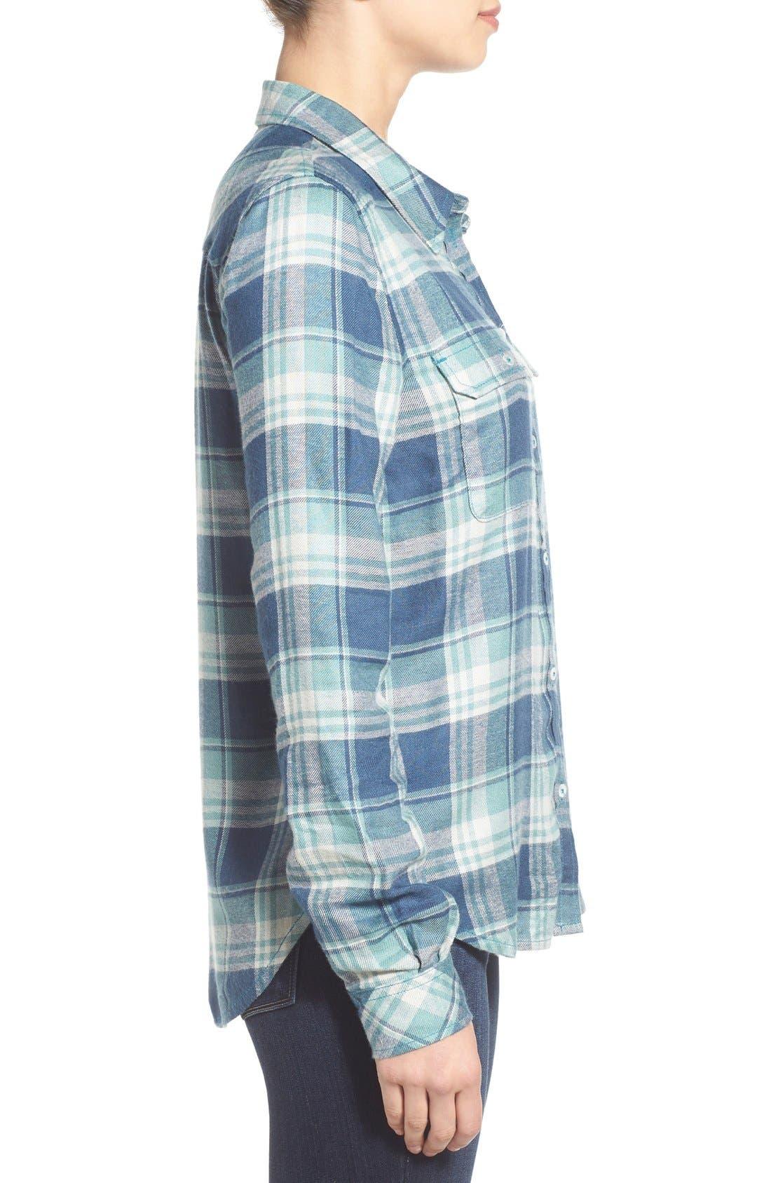 PAIGE,                             Denim 'Trudy' Plaid Shirt,                             Alternate thumbnail 3, color,                             423
