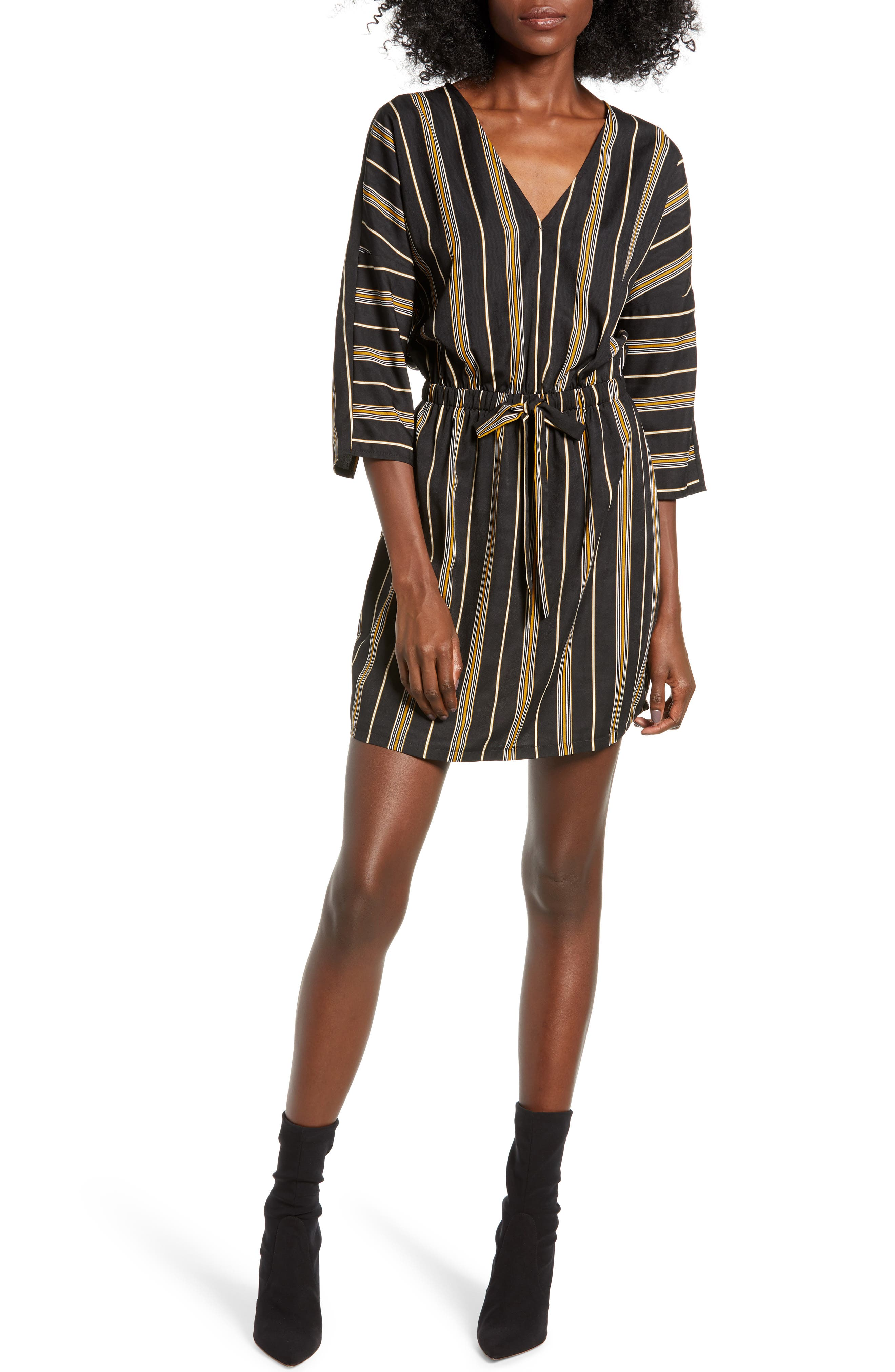Stripe Cotton Minidress by All In Favor