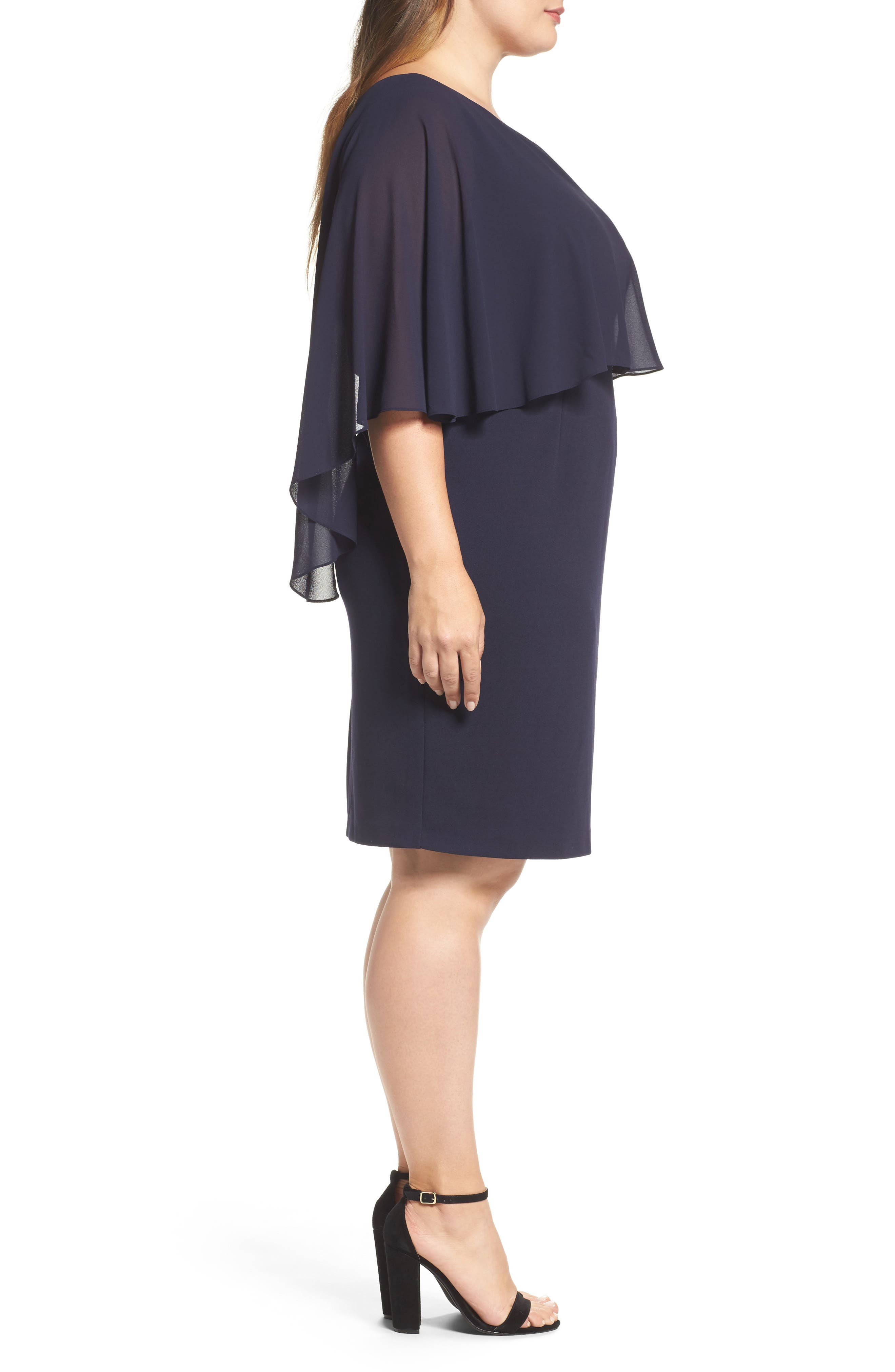 One-Shoulder Sheath Dress,                             Alternate thumbnail 3, color,                             410