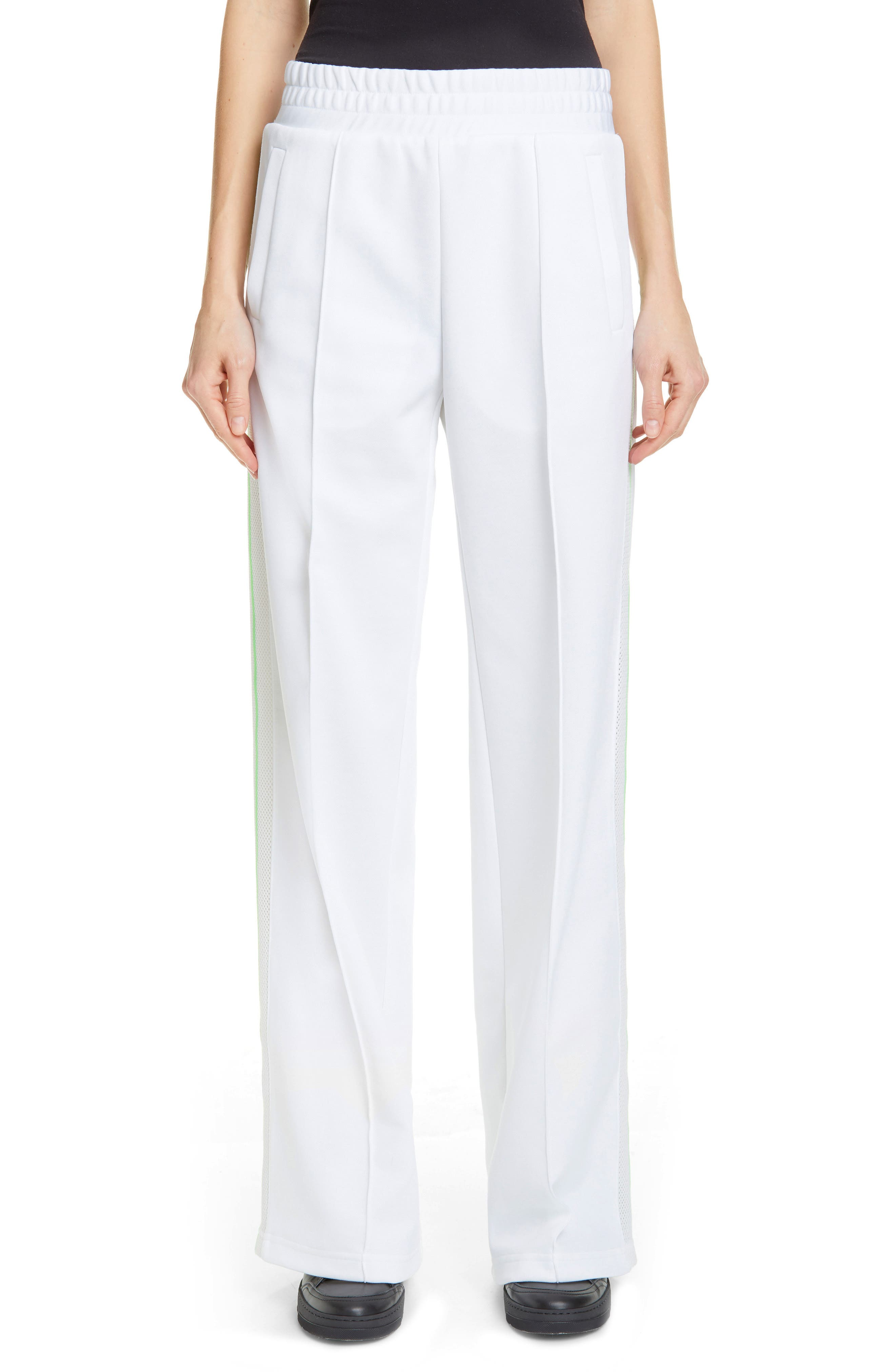 Gym Track Pants, Main, color, WHITE