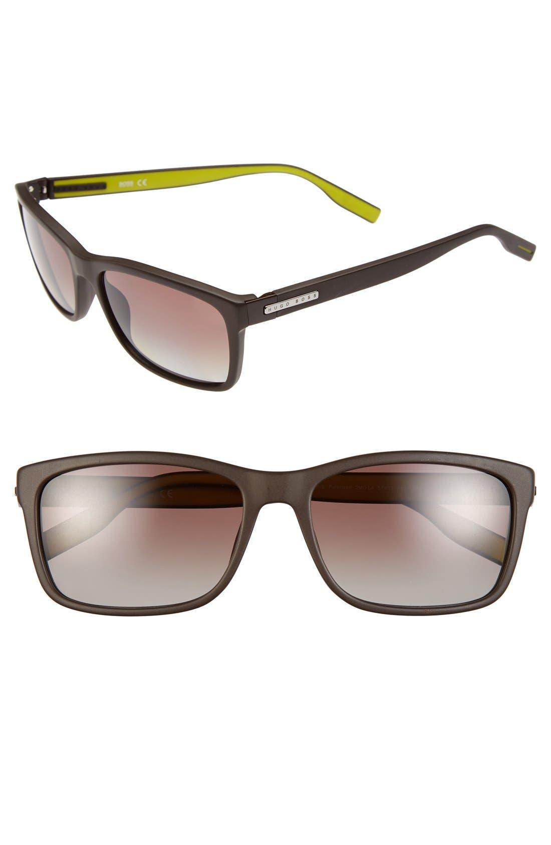 57mm Polarized Retro Sunglasses,                             Main thumbnail 2, color,