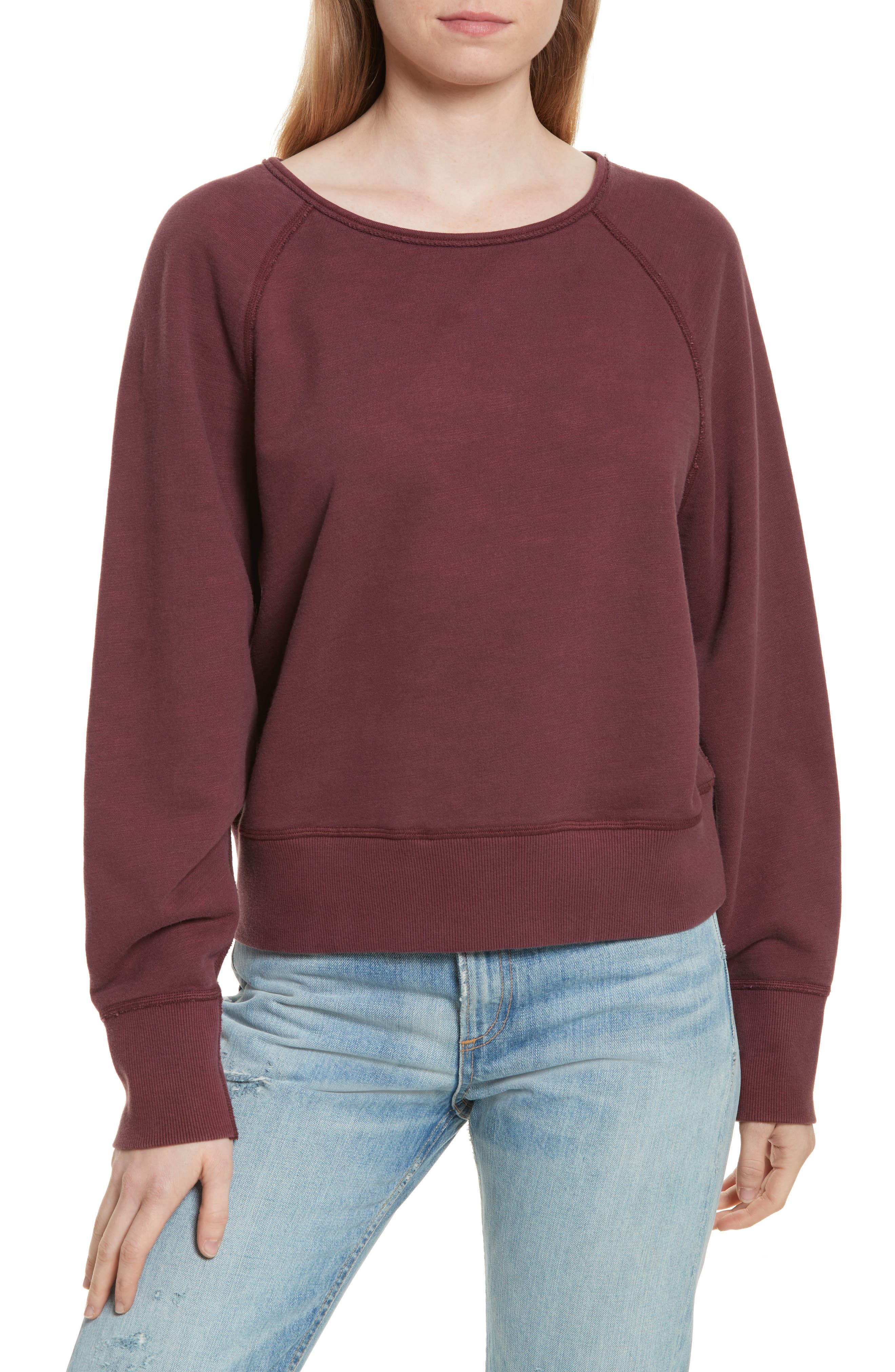 Classic Crop Pullover,                             Main thumbnail 1, color,                             618