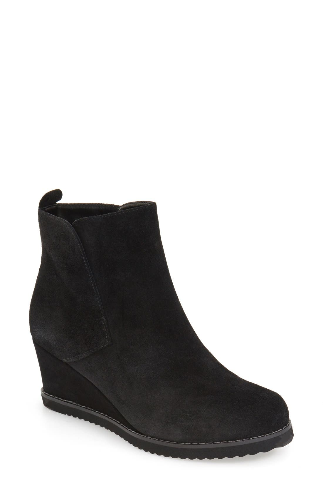 'Karla' Waterproof Wedge Bootie,                             Main thumbnail 2, color,