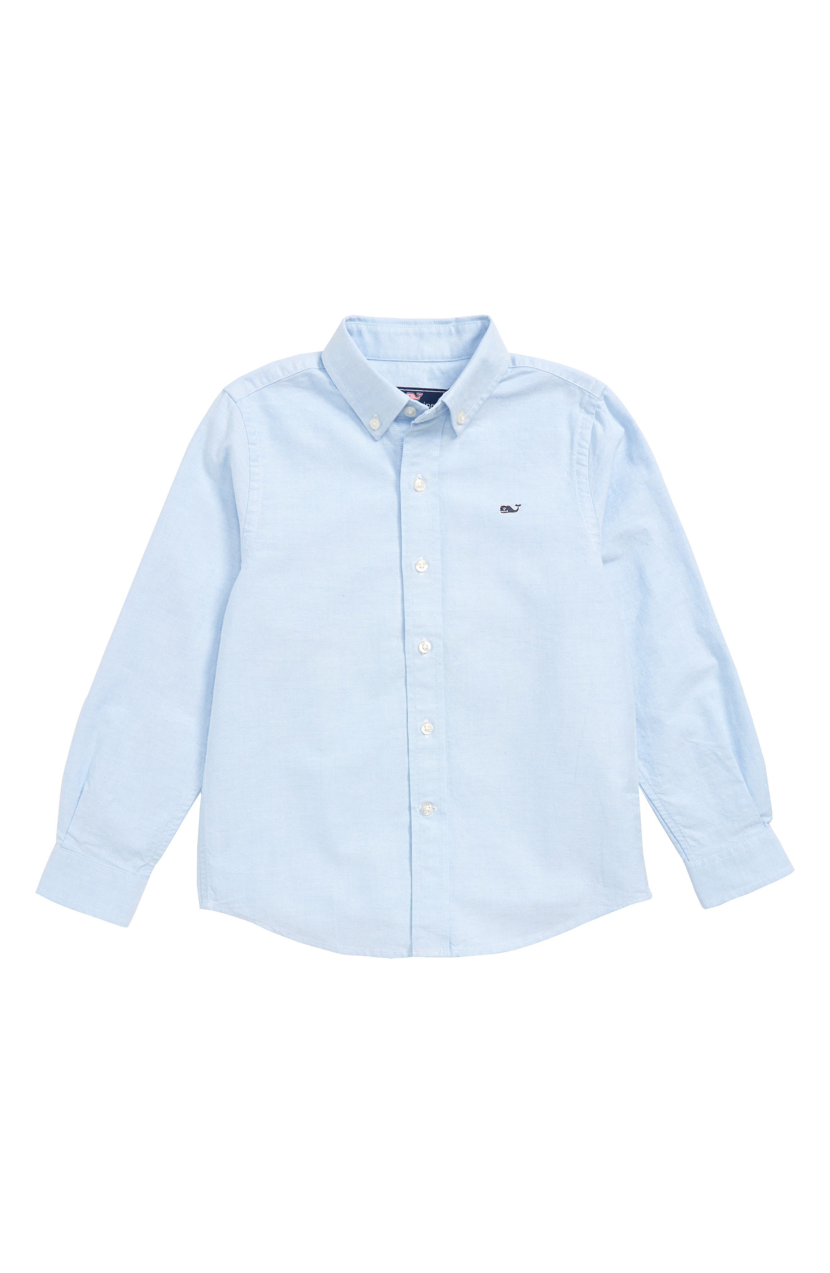 Woven Oxford Shirt,                             Main thumbnail 1, color,                             OCEAN BREEZE