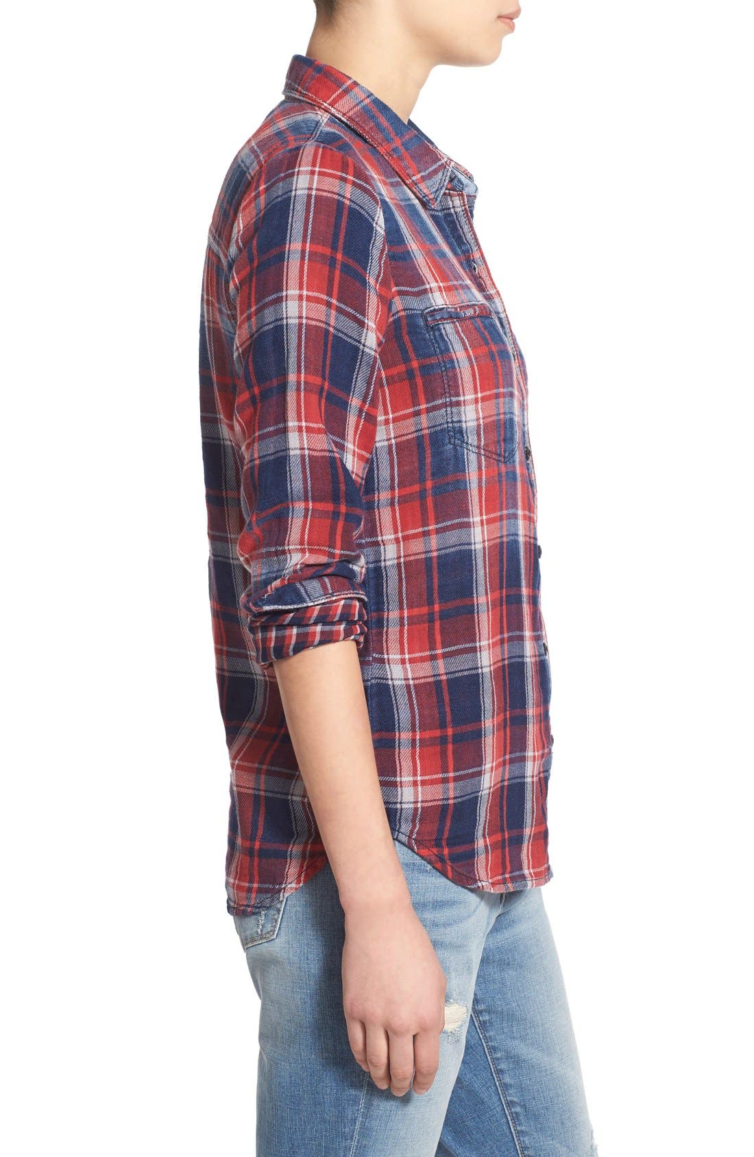 Treasure&Bond Classic Fit Plaid Shirt,                             Alternate thumbnail 5, color,                             400