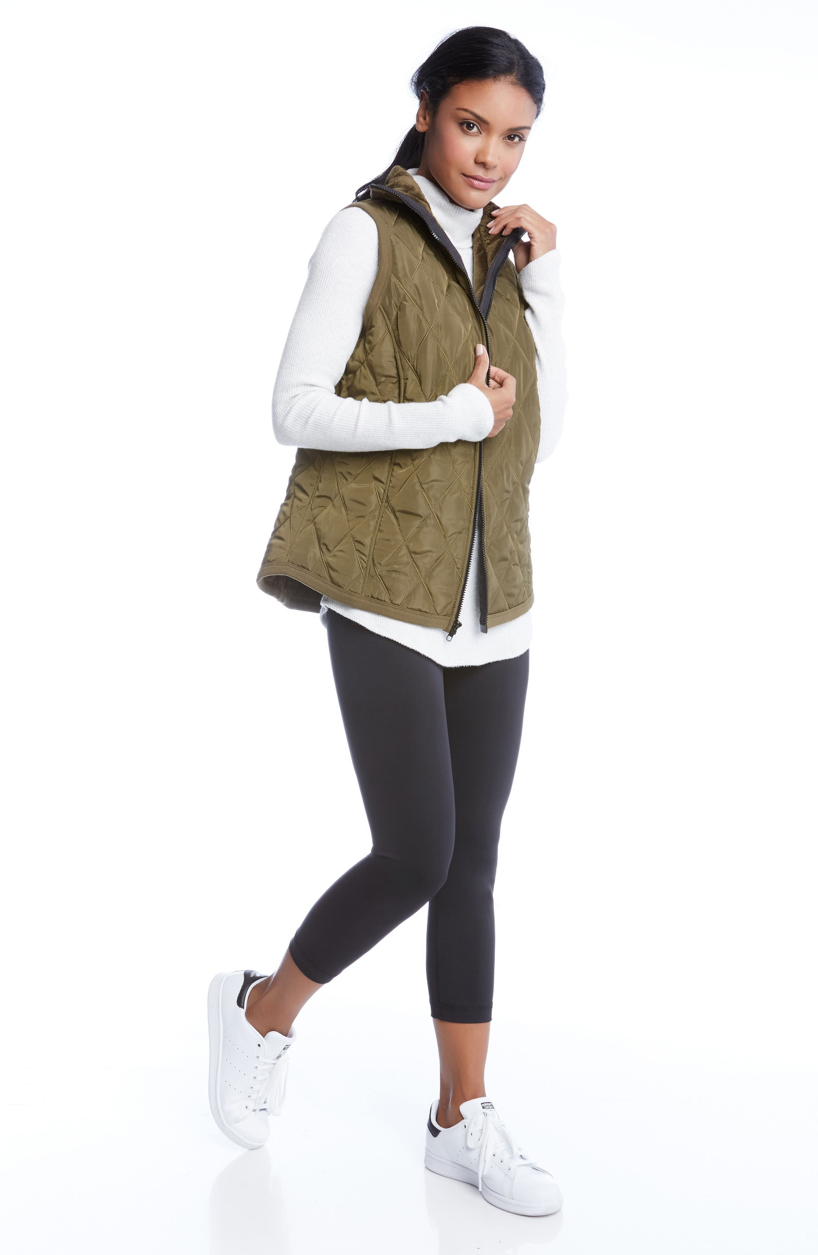 Quilted Vest,                             Alternate thumbnail 3, color,                             330