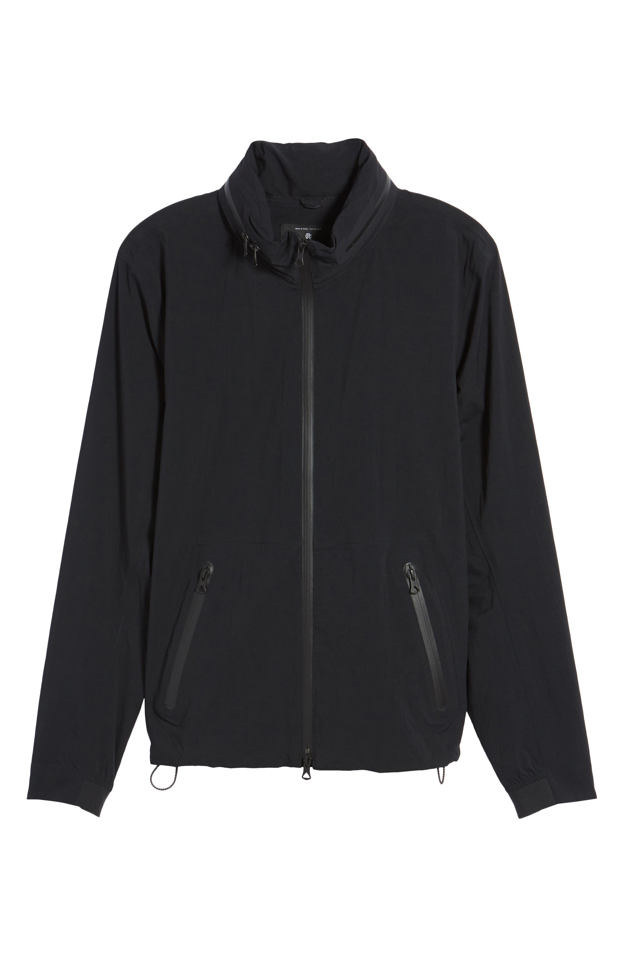 Stow Away Hood Waterproof Jacket,                             Alternate thumbnail 5, color,                             001