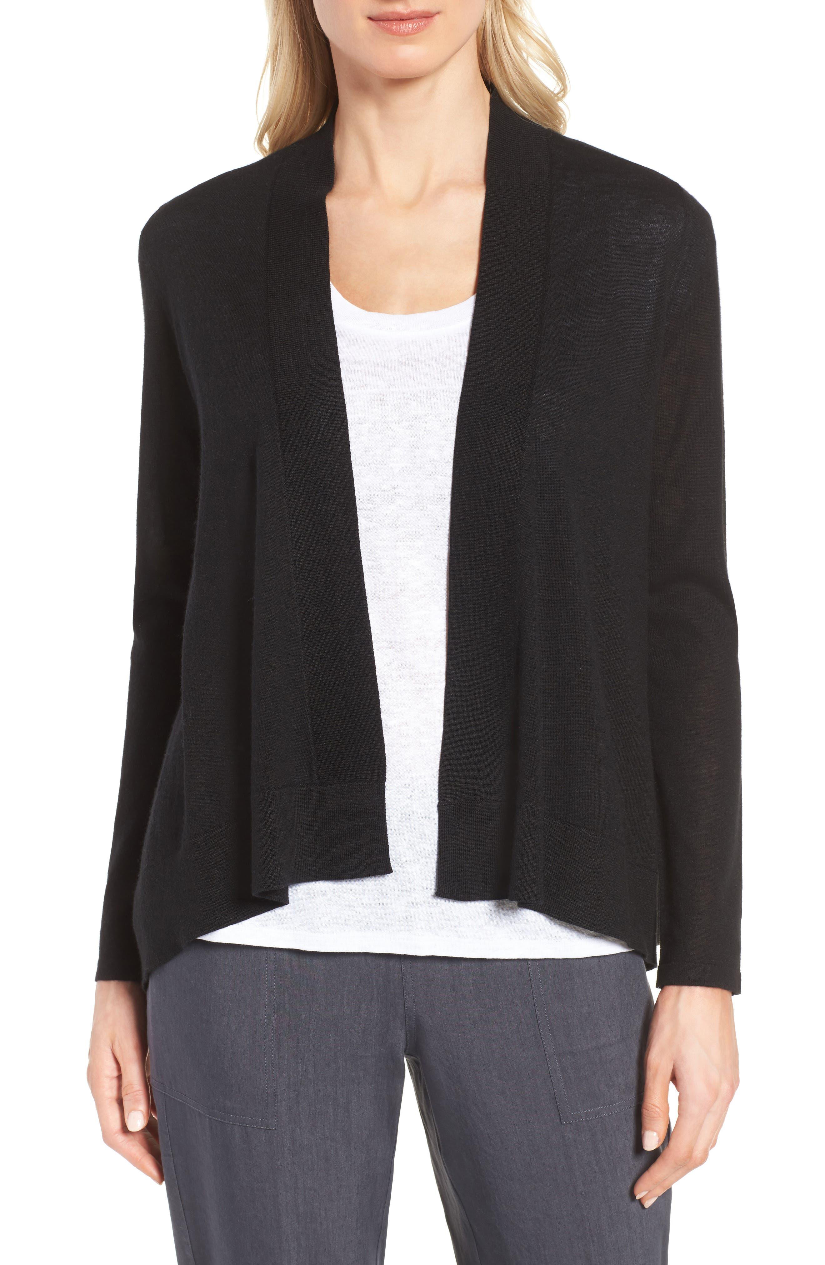 Cashmere & Linen Cardigan, Main, color, 001