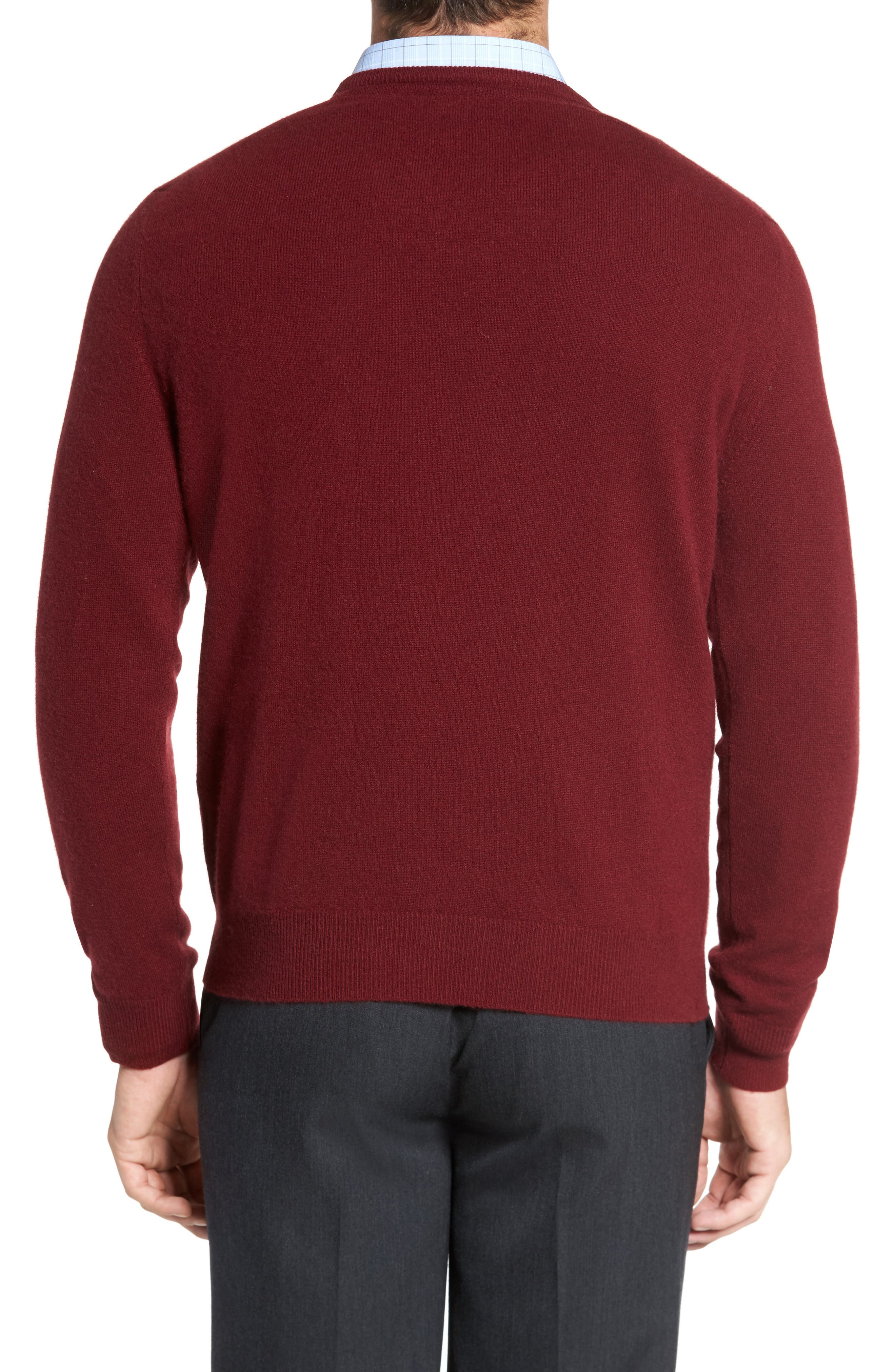 Cashmere V-Neck Sweater,                             Alternate thumbnail 12, color,