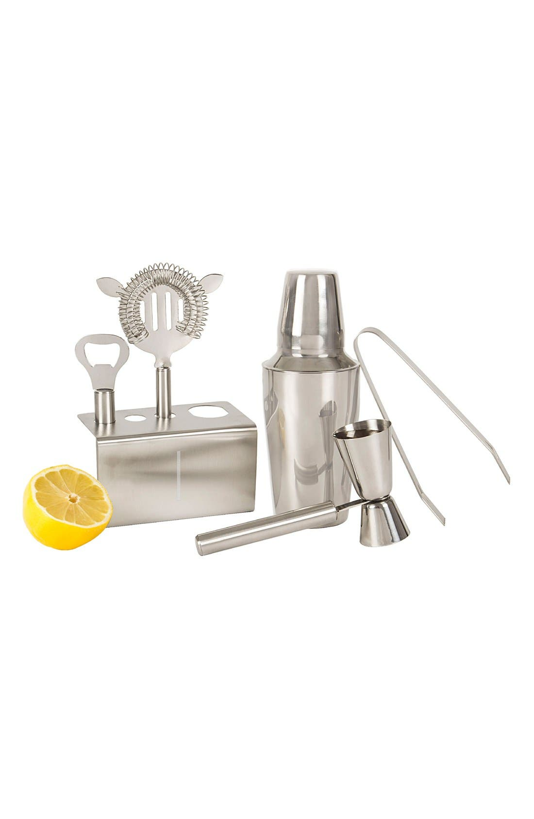 Monogram Stainless Steel Mixology Set,                             Main thumbnail 7, color,