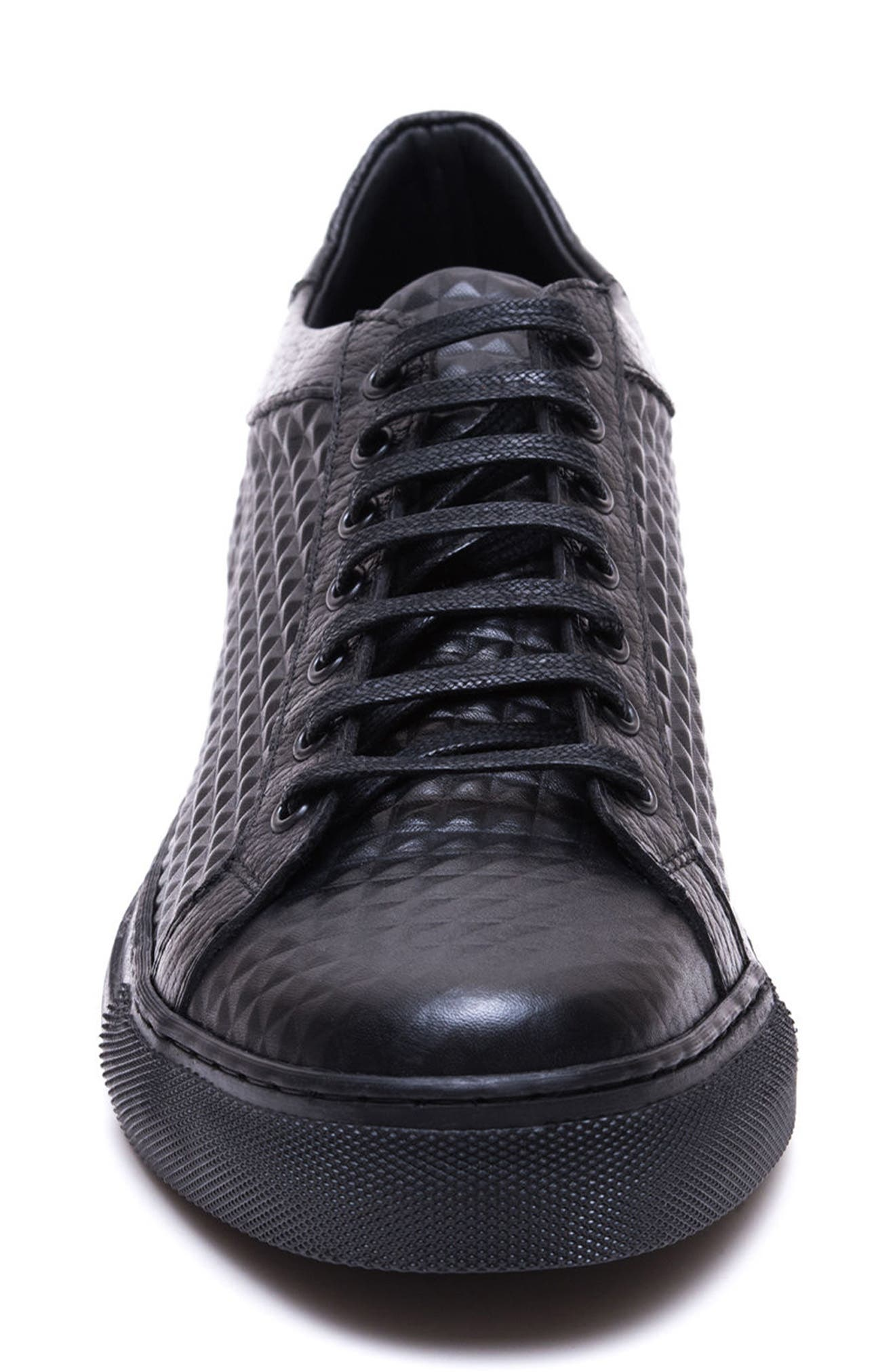 Scott Leather Sneaker,                             Alternate thumbnail 4, color,                             001