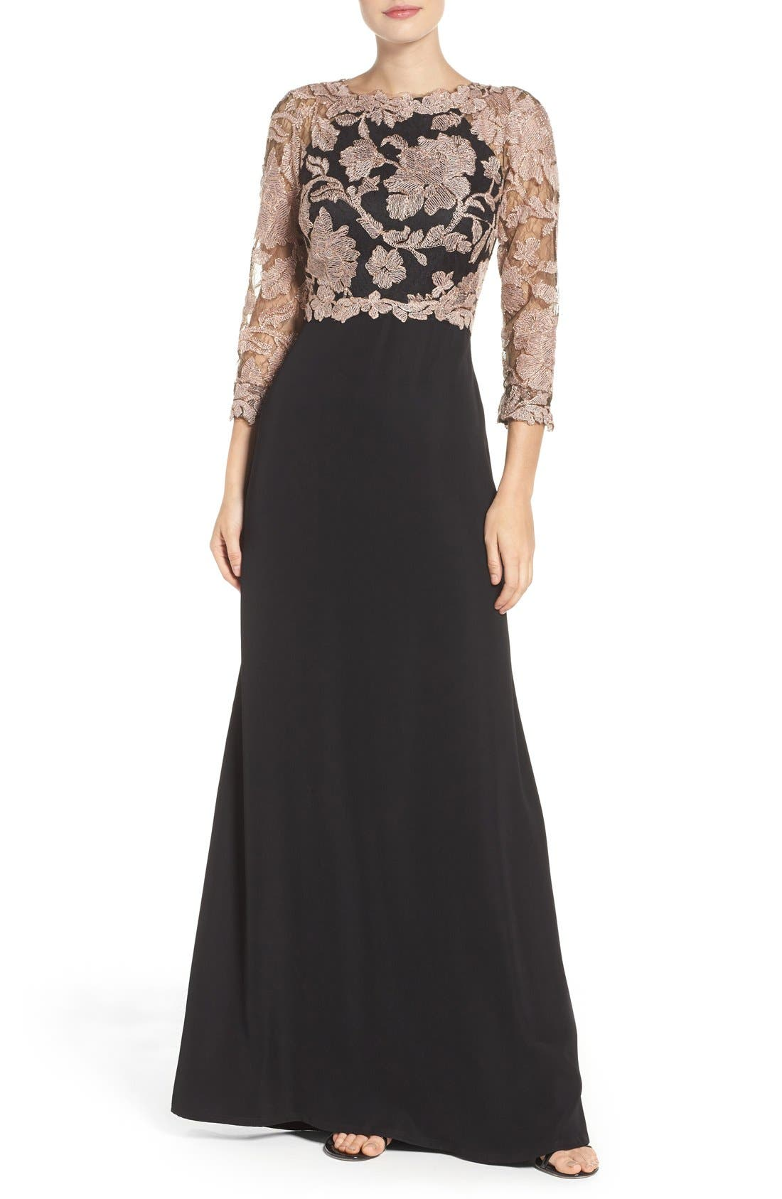 Embroidered Lace Gown,                             Main thumbnail 3, color,