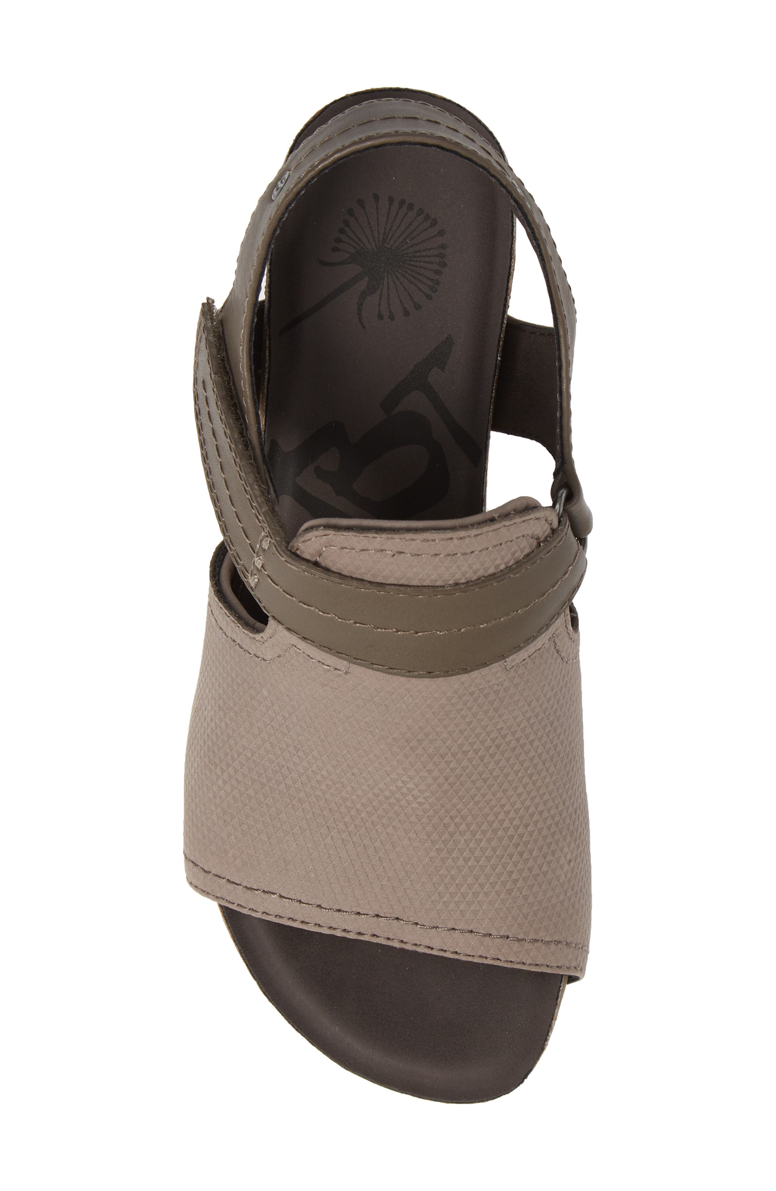 Waypoint Wedge Sandal,                             Alternate thumbnail 5, color,                             CACAO LEATHER