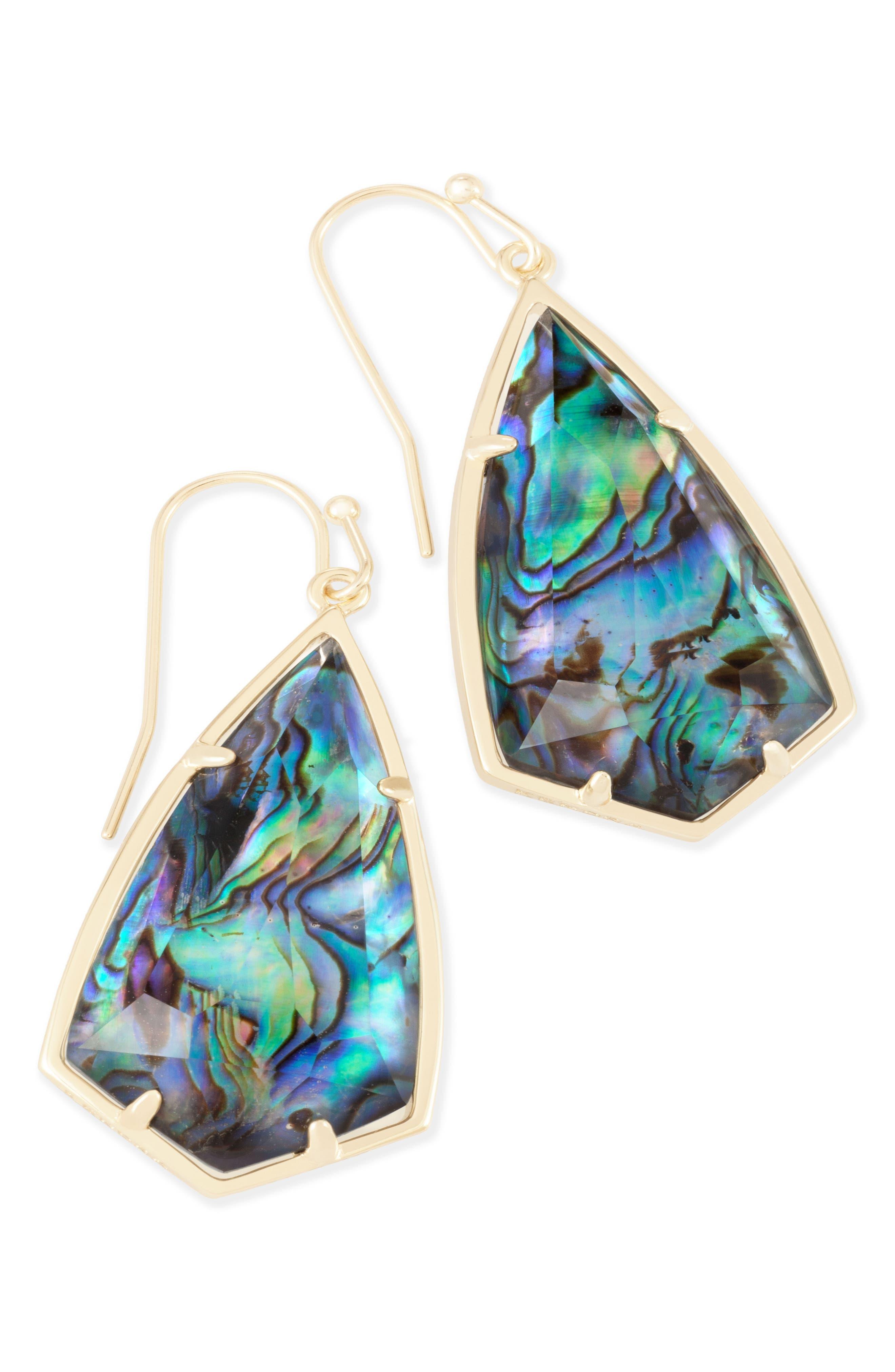 Carla Semiprecious Stone Drop Earrings,                             Alternate thumbnail 28, color,