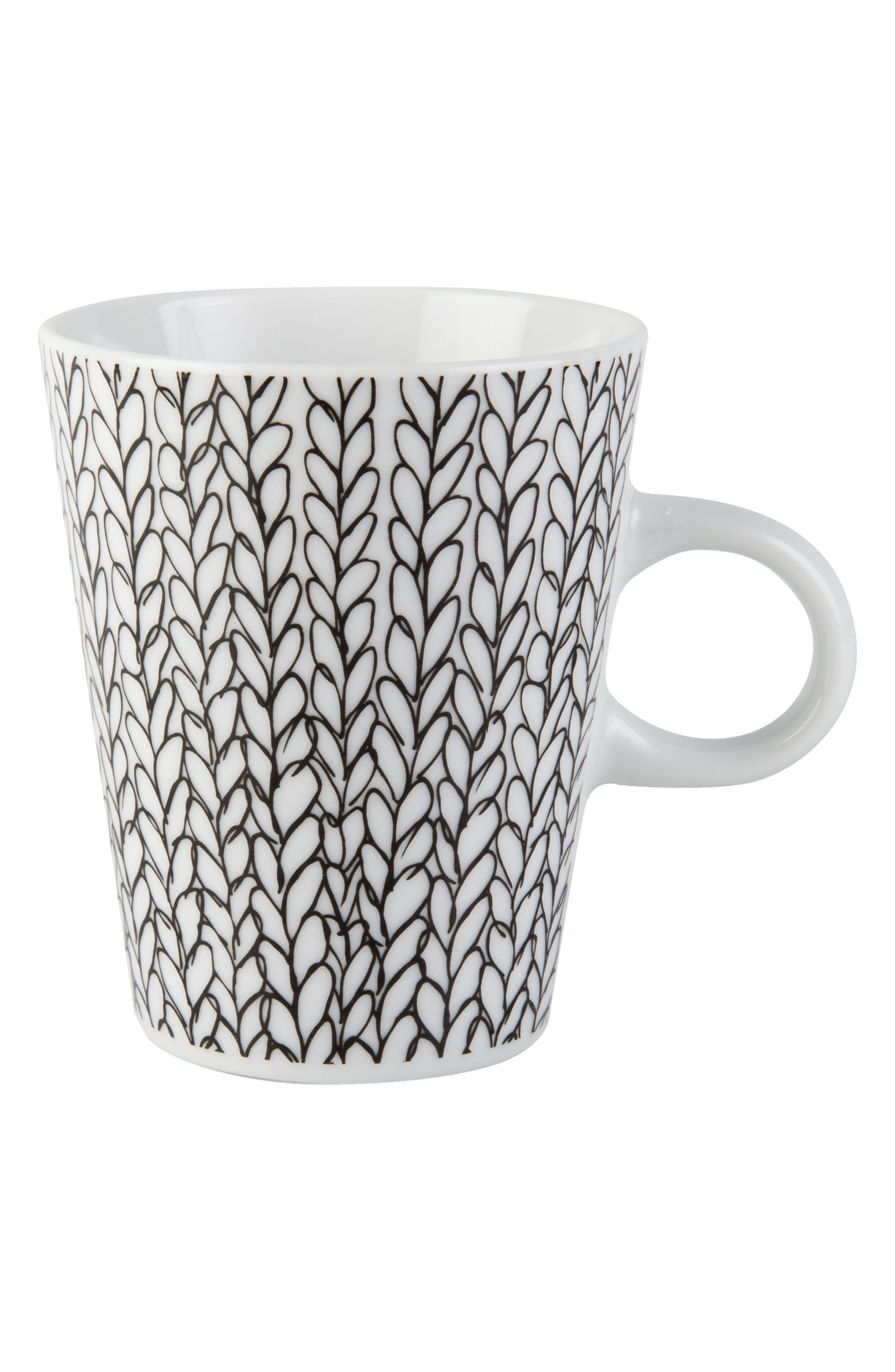 Patterned Porcelain Mug,                             Main thumbnail 1, color,                             100