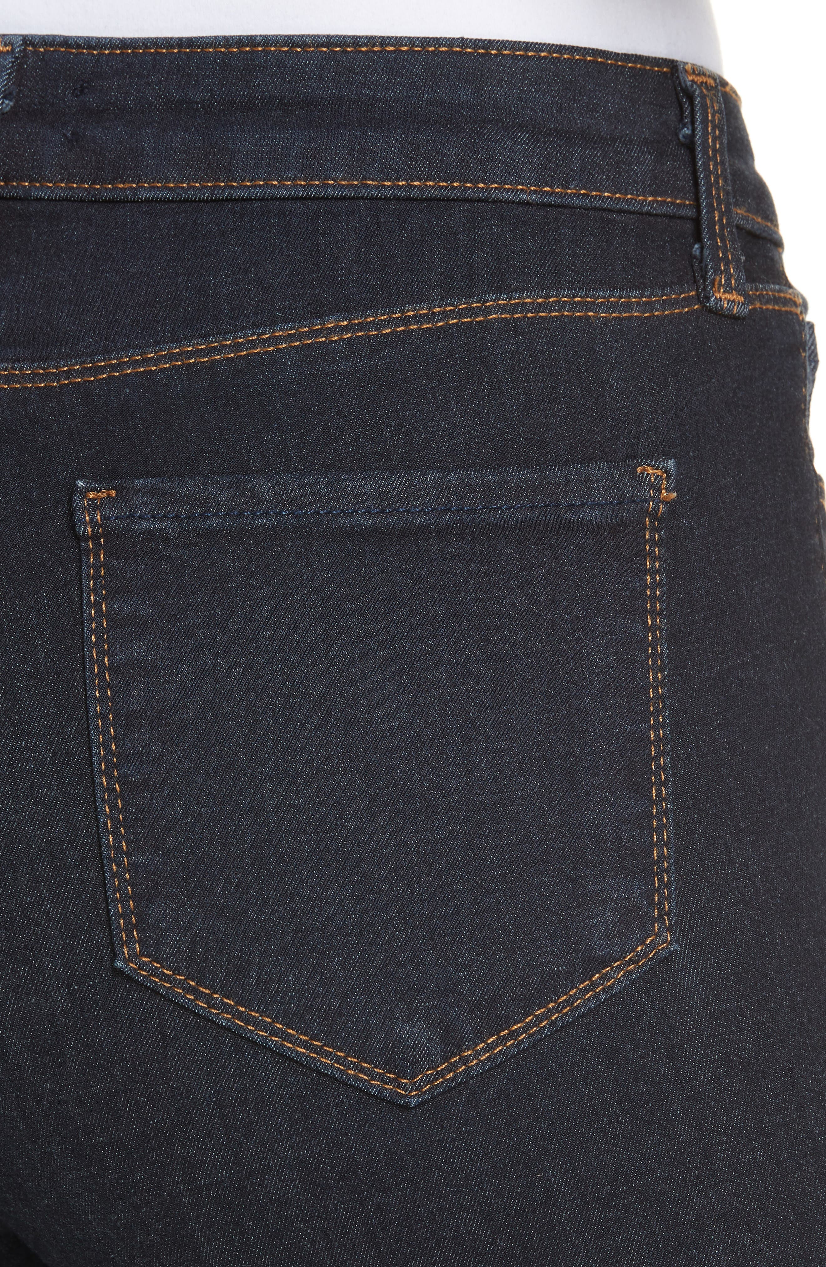 Margot High Waist Crop Jeans,                             Alternate thumbnail 4, color,                             MIDNIGHT