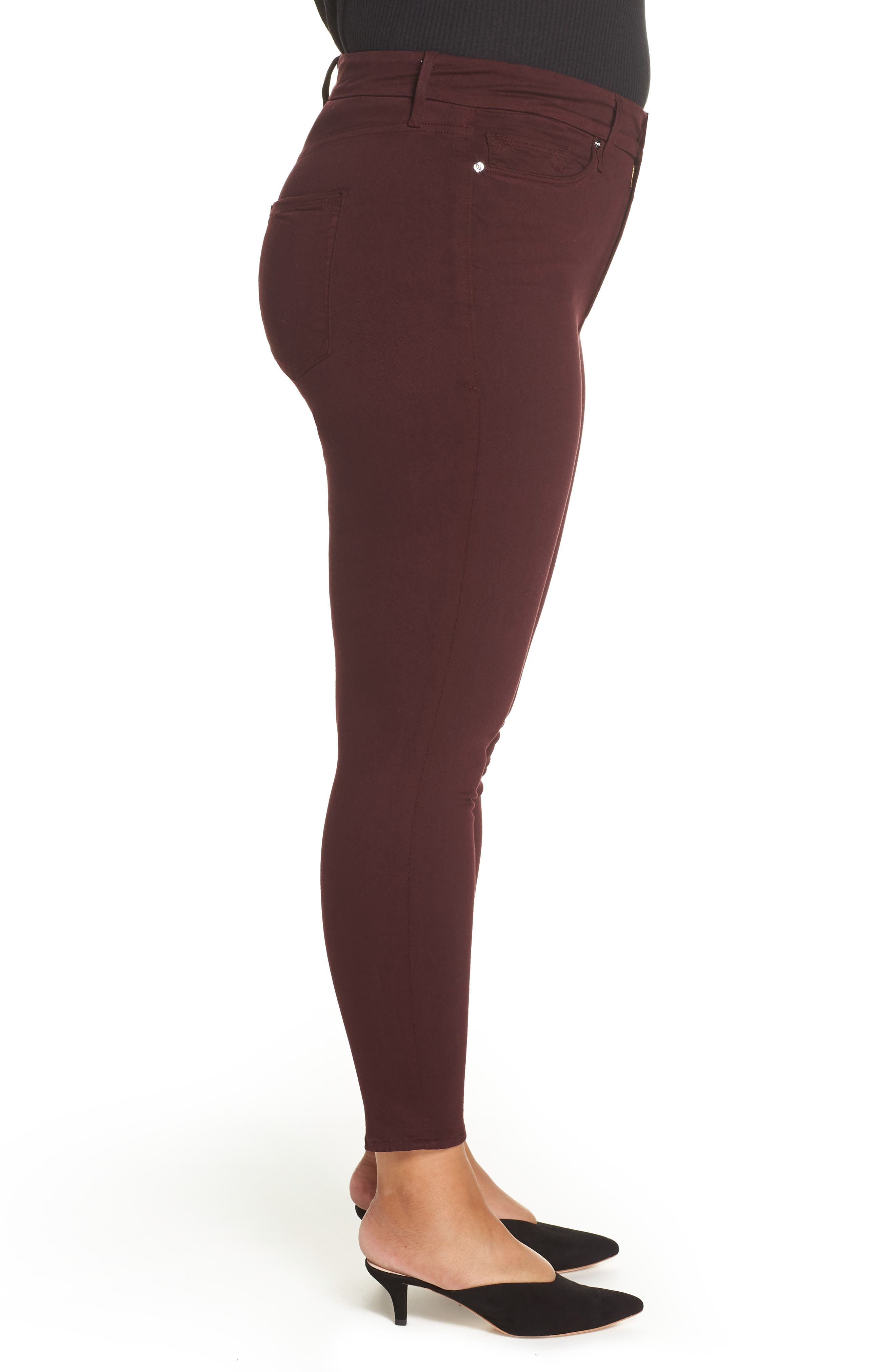 Good Legs High Waist Ankle Skinny Jeans,                             Alternate thumbnail 10, color,                             BURGUNDY 001